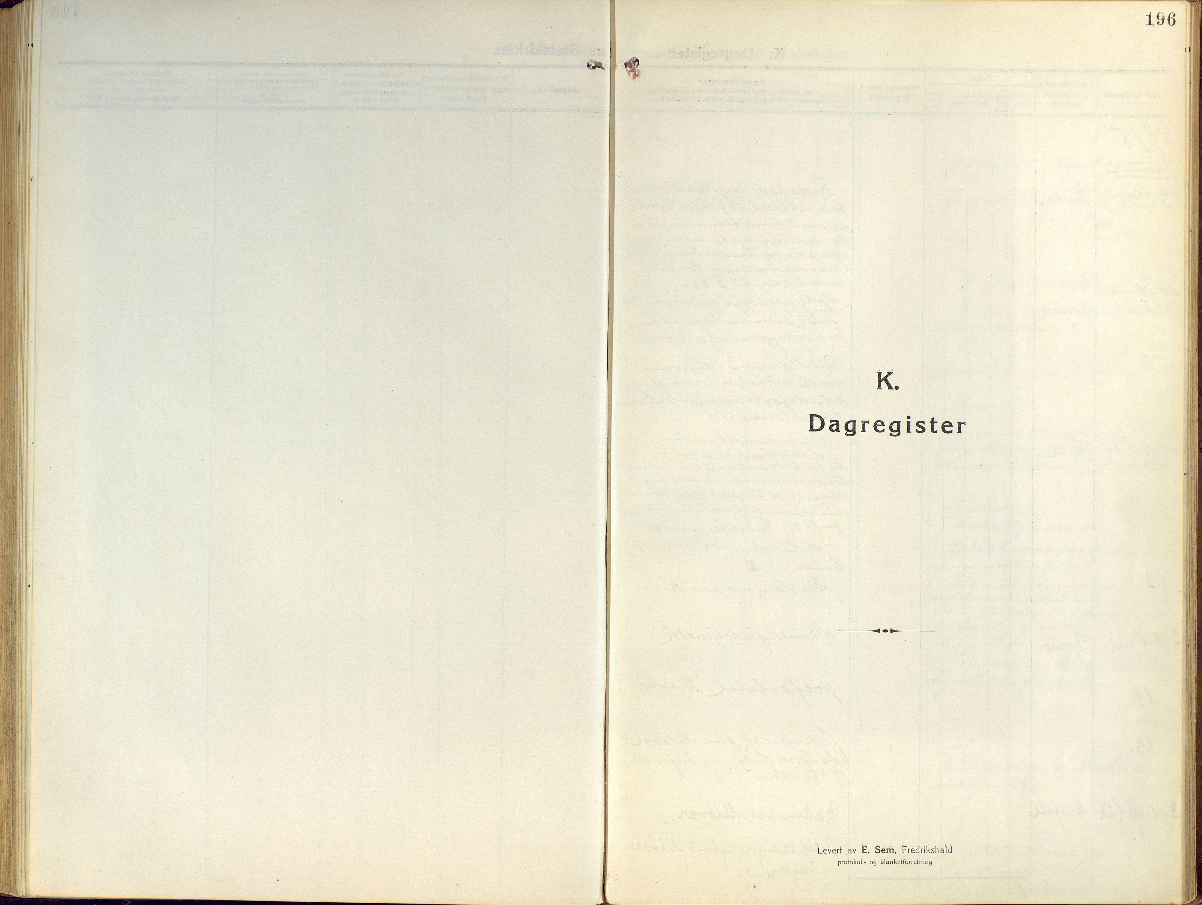 SATØ, Sand/Bjarkøy sokneprestkontor, I/Ia/Iaa/L0006kirke: Ministerialbok nr. 6, 1915-1929, s. 196