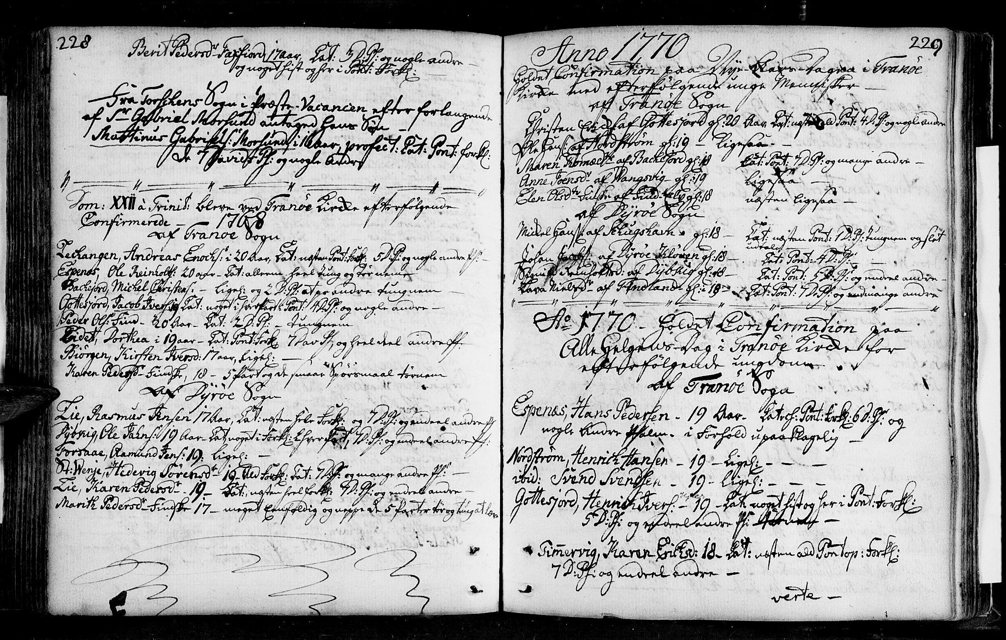 SATØ, Tranøy sokneprestkontor, I/Ia/Iaa/L0001kirke: Ministerialbok nr. 1, 1757-1773, s. 228-229