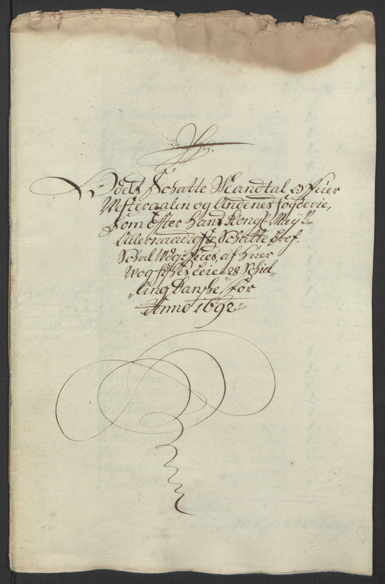 RA, Rentekammeret inntil 1814, Reviderte regnskaper, Fogderegnskap, R67/L4676: Fogderegnskap Vesterålen, Andenes og Lofoten, 1691-1693, s. 107