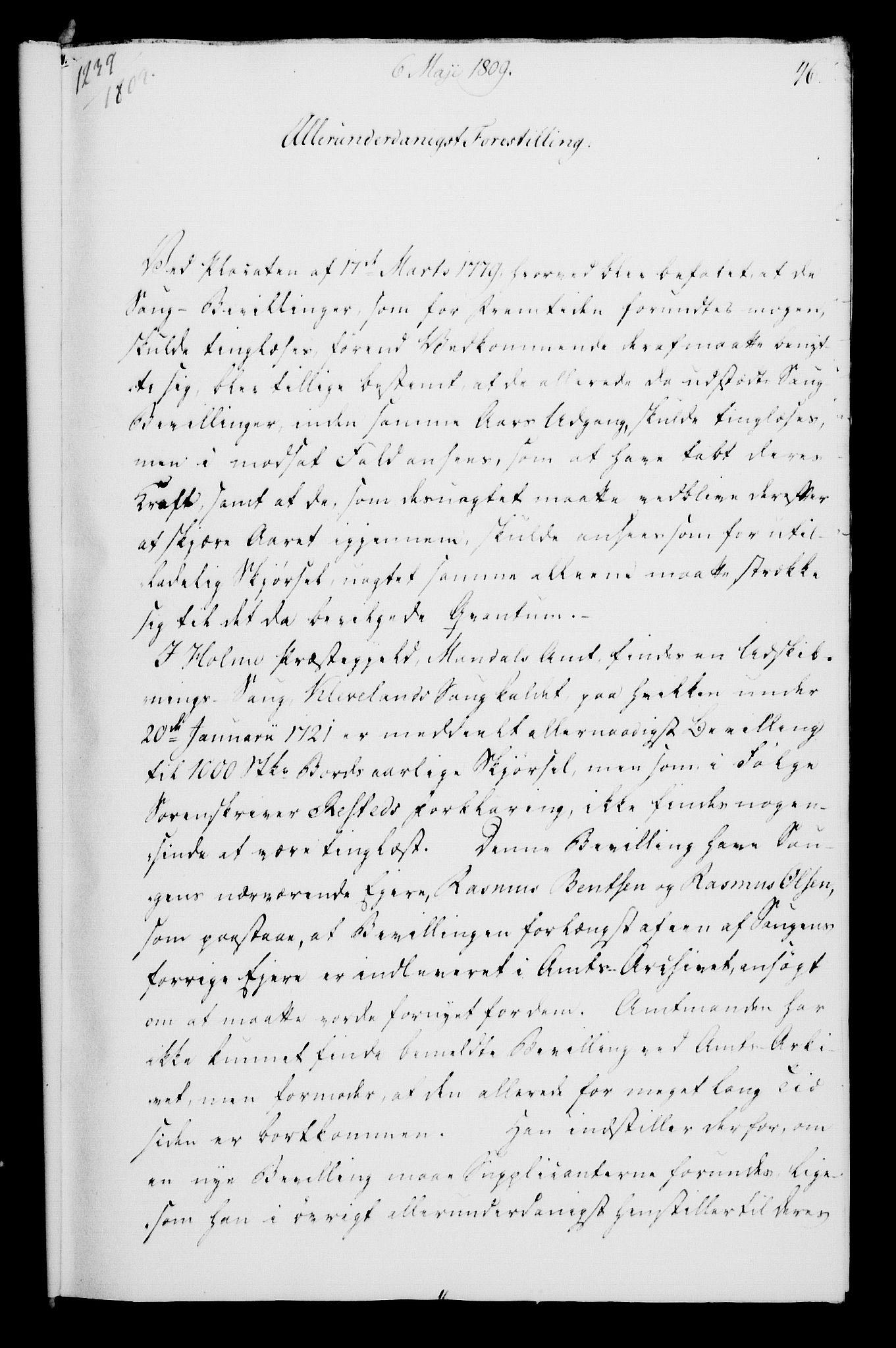 RA, Rentekammeret, Kammerkanselliet, G/Gf/Gfa/L0091: Norsk relasjons- og resolusjonsprotokoll (merket RK 52.91), 1809, s. 203