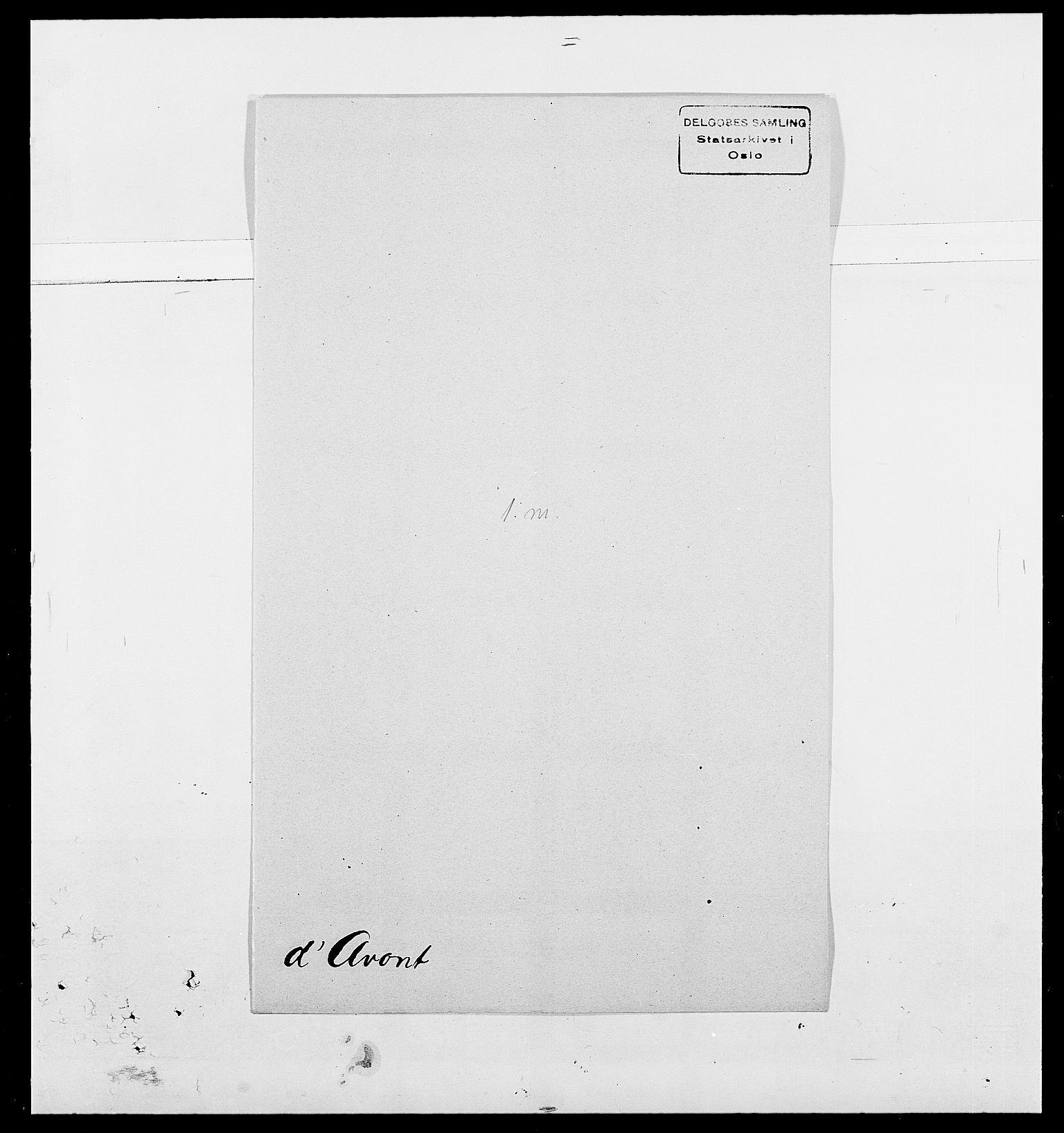 SAO, Delgobe, Charles Antoine - samling, D/Da/L0002: Anker, Ancher - Bauner, s. 529