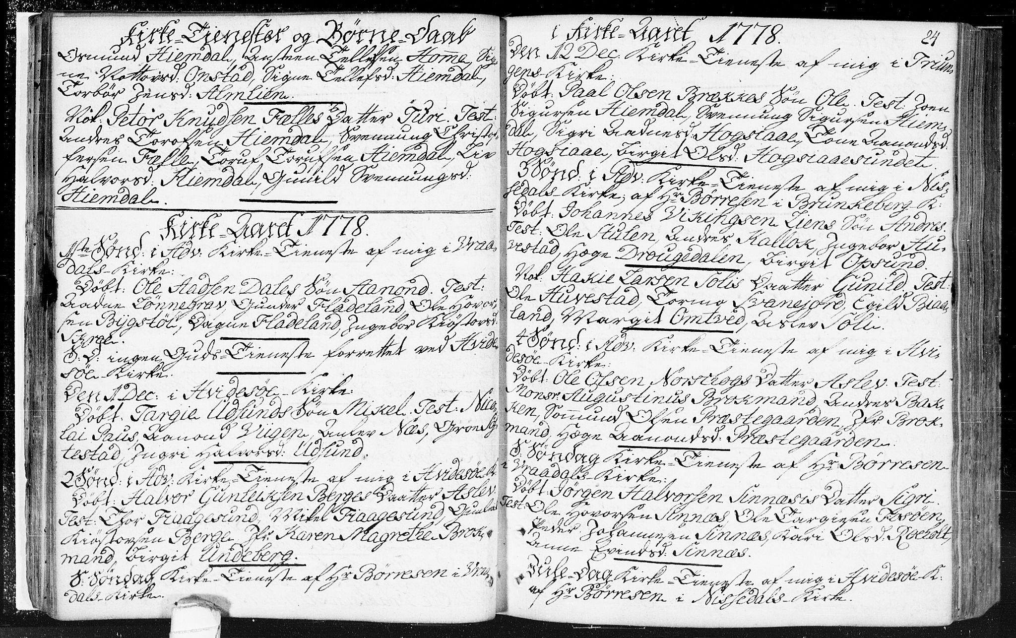 SAKO, Kviteseid kirkebøker, F/Fa/L0002: Ministerialbok nr. I 2, 1773-1786, s. 24
