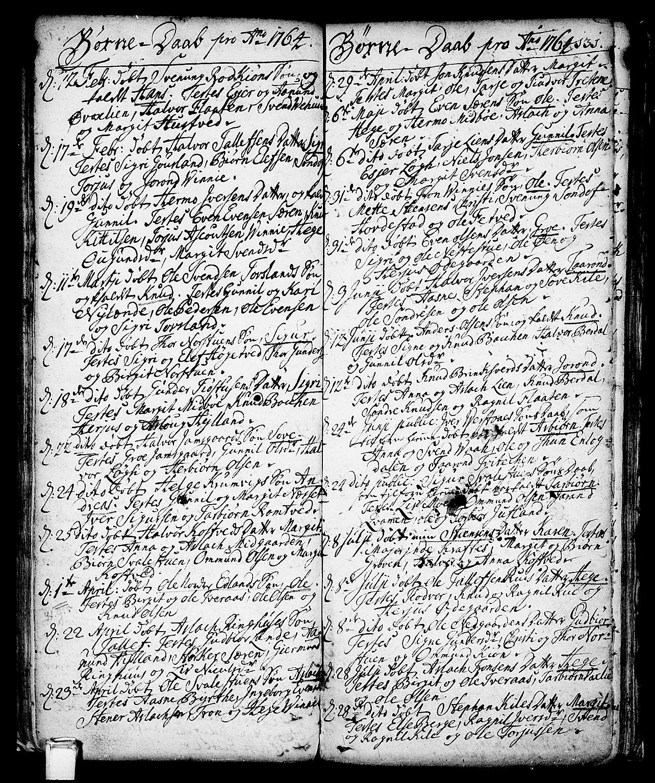 SAKO, Vinje kirkebøker, F/Fa/L0001: Ministerialbok nr. I 1, 1717-1766, s. 131