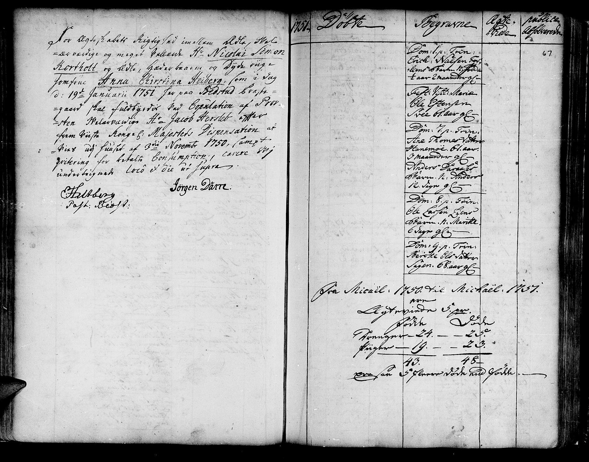 SAT, Ministerialprotokoller, klokkerbøker og fødselsregistre - Nord-Trøndelag, 741/L0385: Ministerialbok nr. 741A01, 1722-1815, s. 67