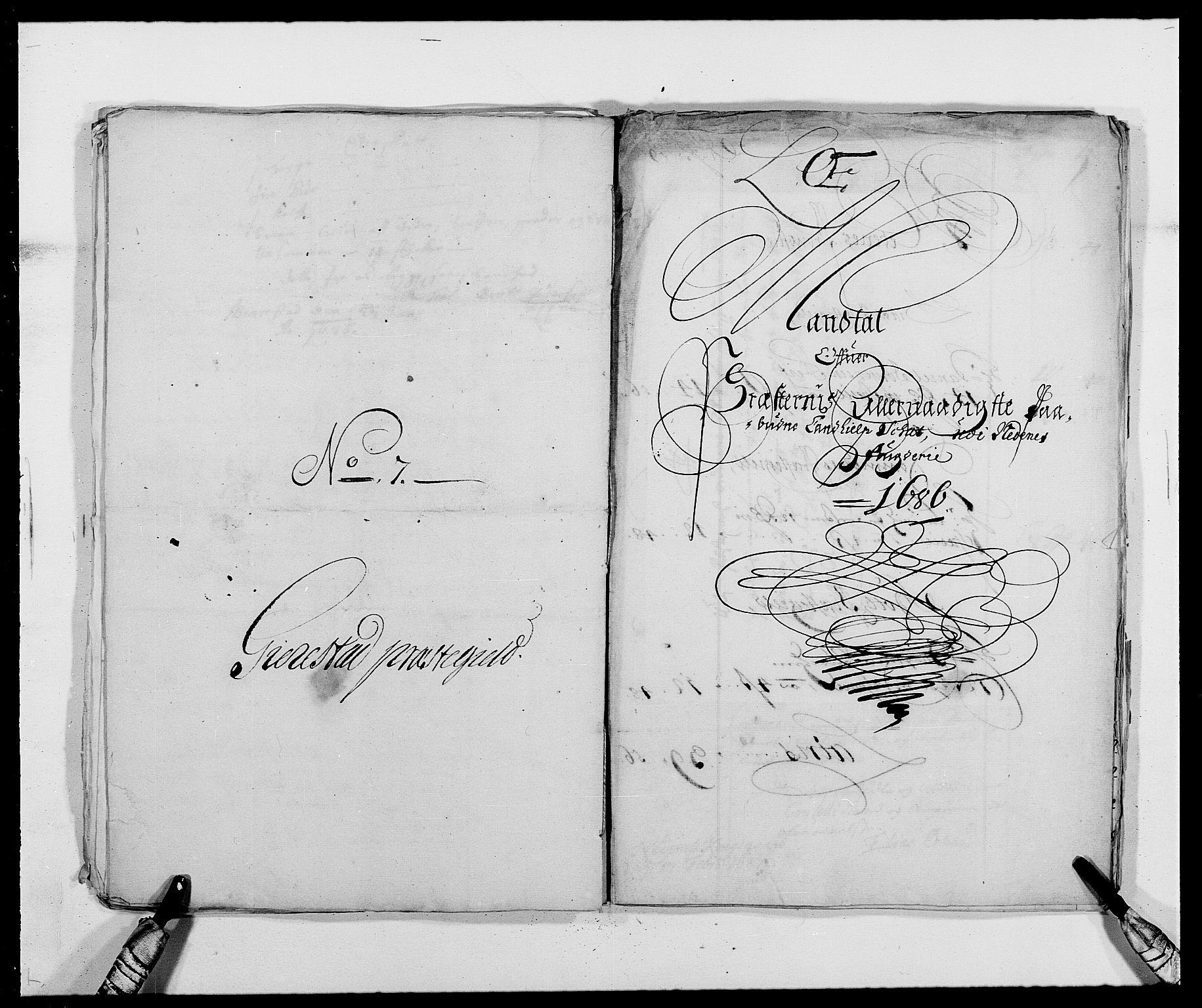 RA, Rentekammeret inntil 1814, Reviderte regnskaper, Fogderegnskap, R39/L2308: Fogderegnskap Nedenes, 1684-1689, s. 438