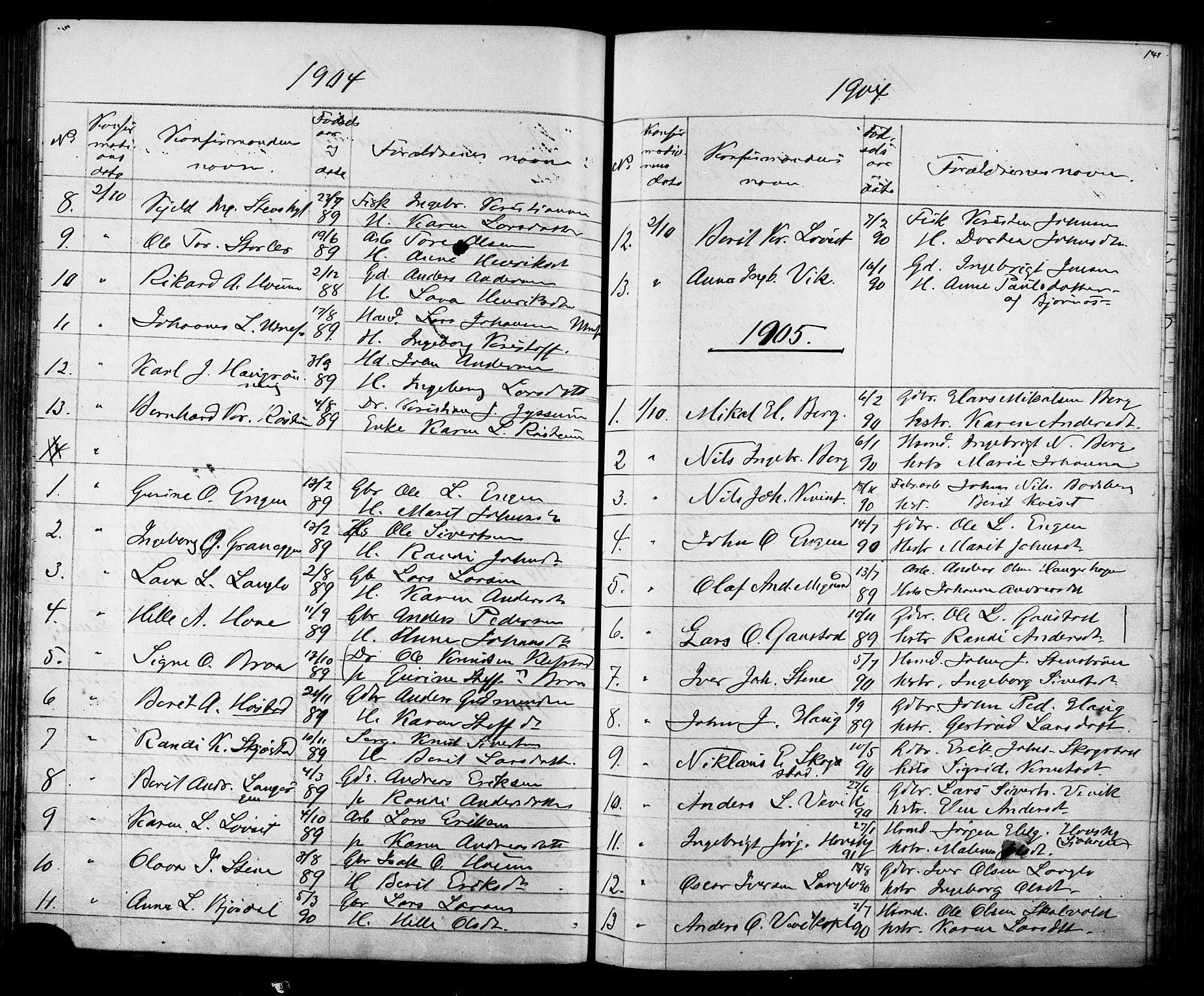 SAT, Ministerialprotokoller, klokkerbøker og fødselsregistre - Sør-Trøndelag, 612/L0387: Klokkerbok nr. 612C03, 1874-1908, s. 141