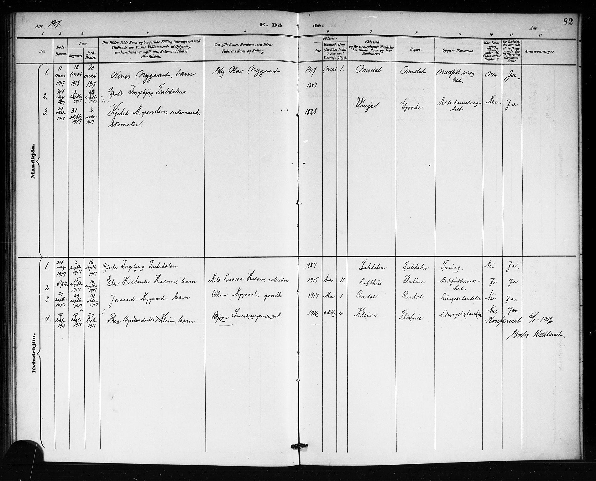 SAKO, Lårdal kirkebøker, G/Gb/L0003: Klokkerbok nr. II 3, 1889-1920, s. 82