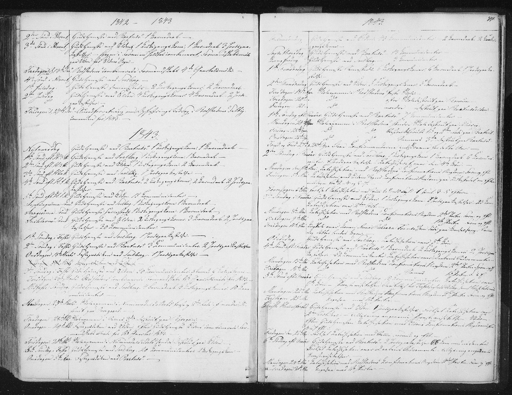 SAT, Ministerialprotokoller, klokkerbøker og fødselsregistre - Nord-Trøndelag, 741/L0392: Ministerialbok nr. 741A06, 1836-1848, s. 371