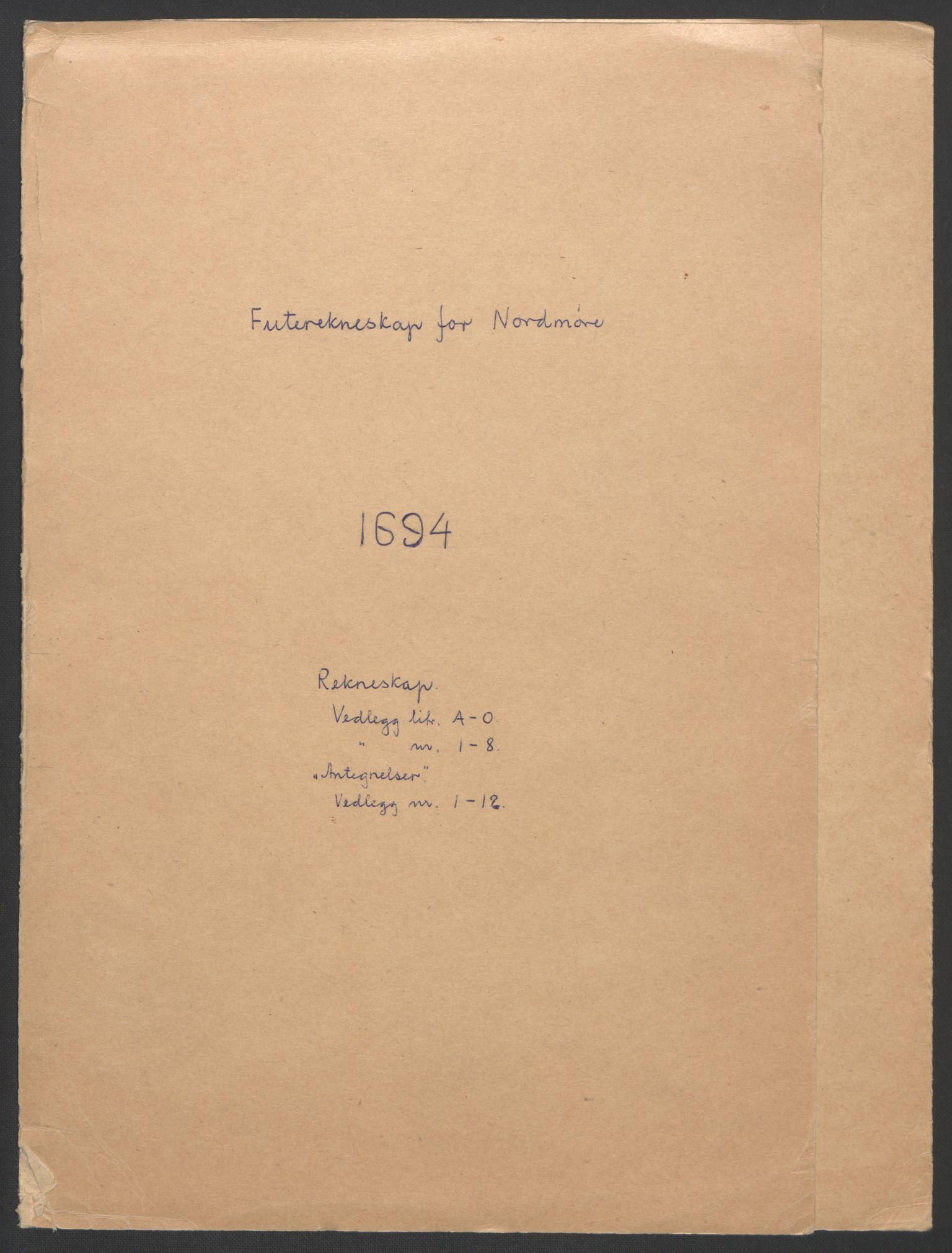 RA, Rentekammeret inntil 1814, Reviderte regnskaper, Fogderegnskap, R56/L3736: Fogderegnskap Nordmøre, 1694-1696, s. 2