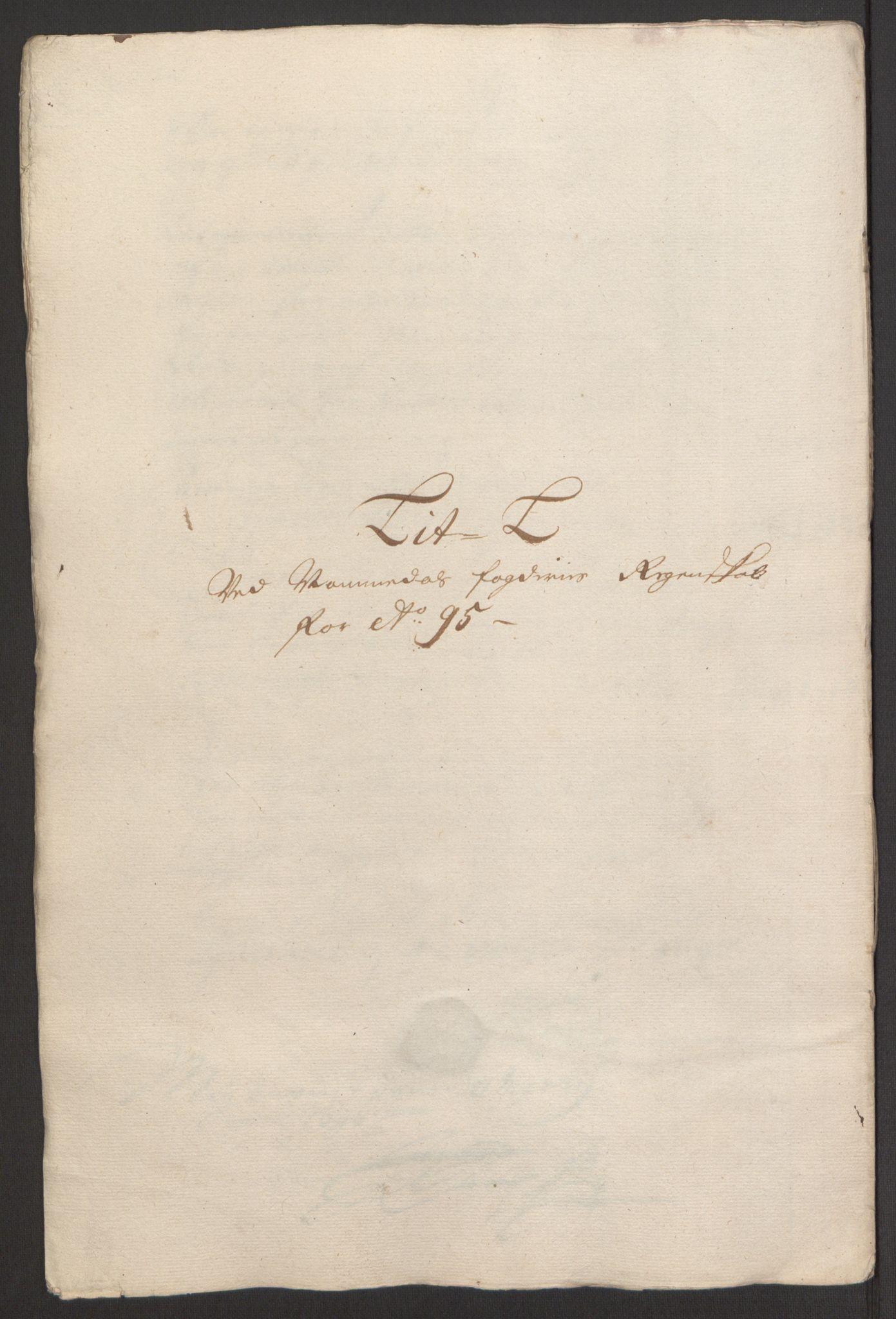 RA, Rentekammeret inntil 1814, Reviderte regnskaper, Fogderegnskap, R64/L4424: Fogderegnskap Namdal, 1692-1695, s. 511
