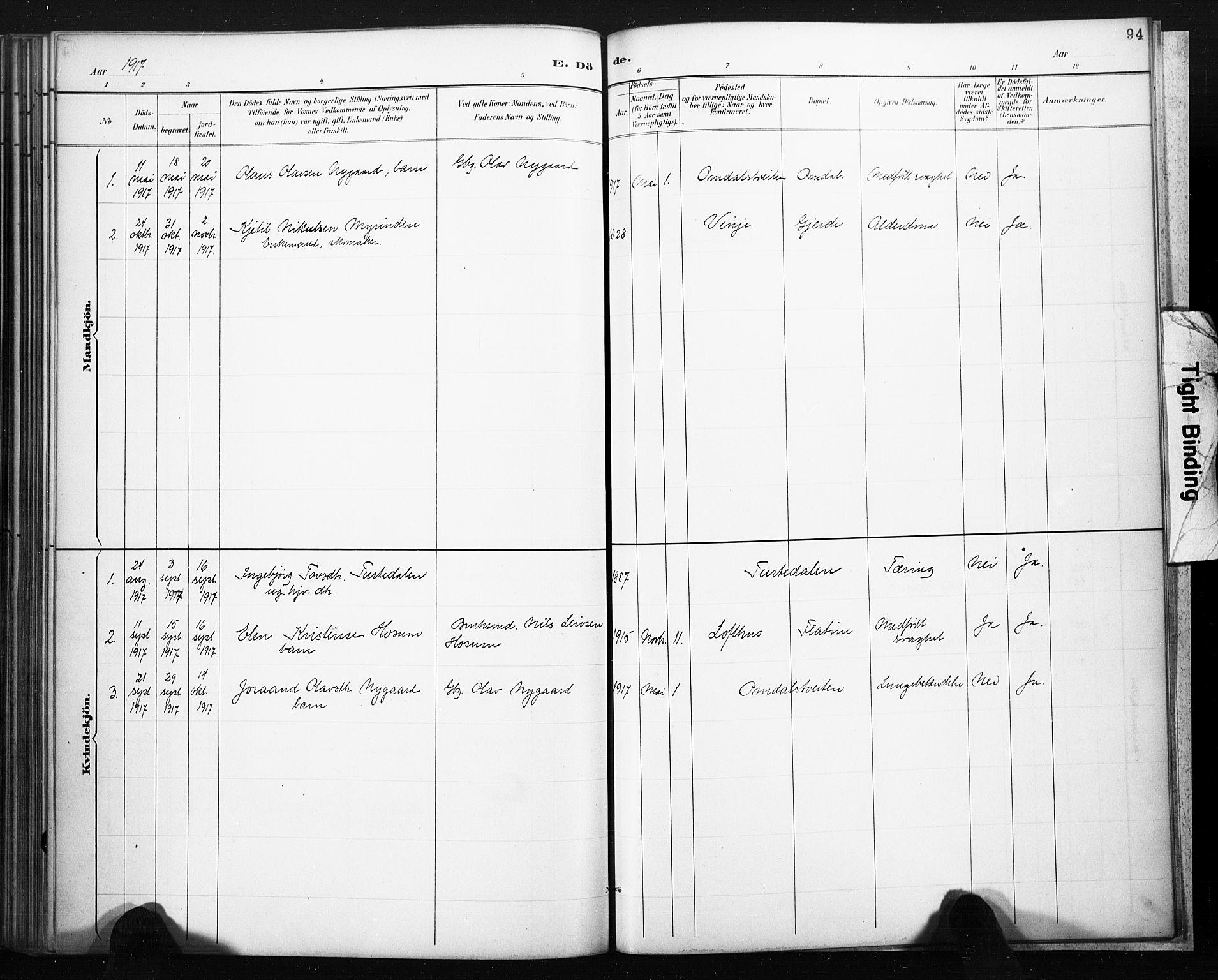 SAKO, Lårdal kirkebøker, F/Fb/L0002: Ministerialbok nr. II 2, 1887-1918, s. 94