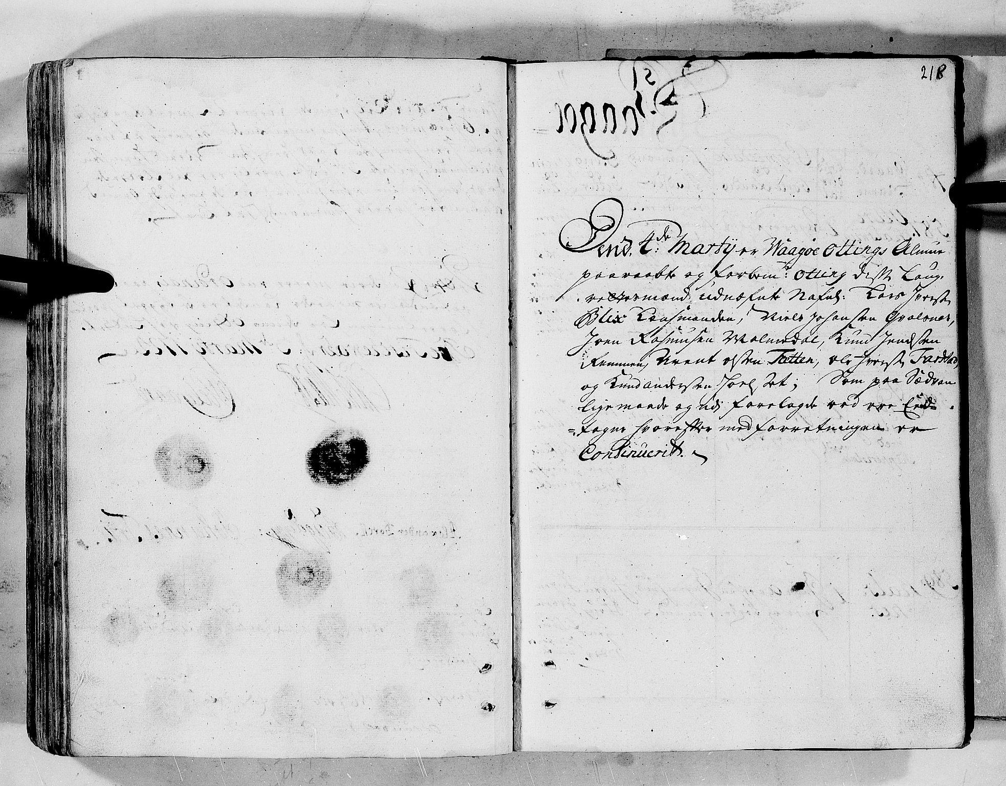 RA, Rentekammeret inntil 1814, Realistisk ordnet avdeling, N/Nb/Nbf/L0152: Romsdal eksaminasjonsprotokoll, 1724, s. 217b-218a
