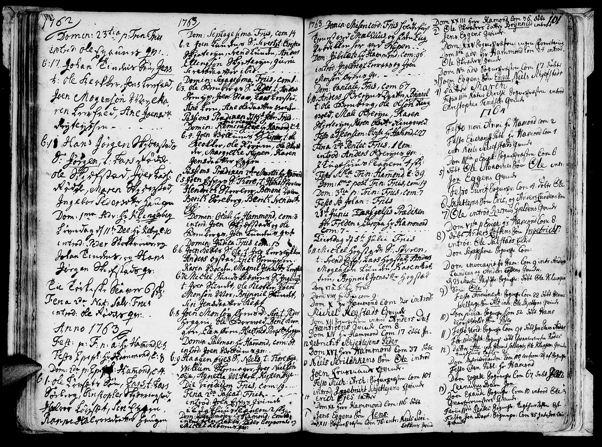 SAT, Ministerialprotokoller, klokkerbøker og fødselsregistre - Sør-Trøndelag, 691/L1059: Ministerialbok nr. 691A01 /3, 1740-1767, s. 101