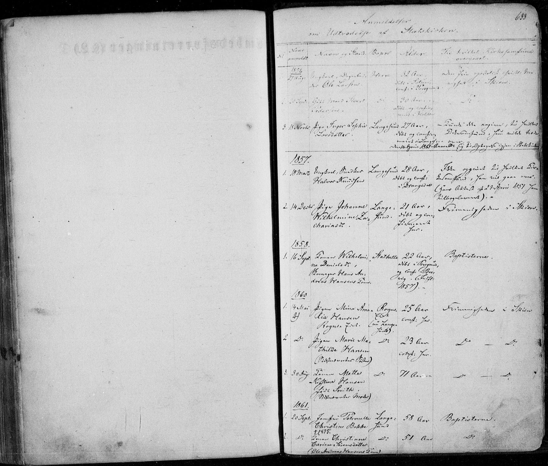 SAKO, Bamble kirkebøker, F/Fa/L0005: Ministerialbok nr. I 5, 1854-1869, s. 633