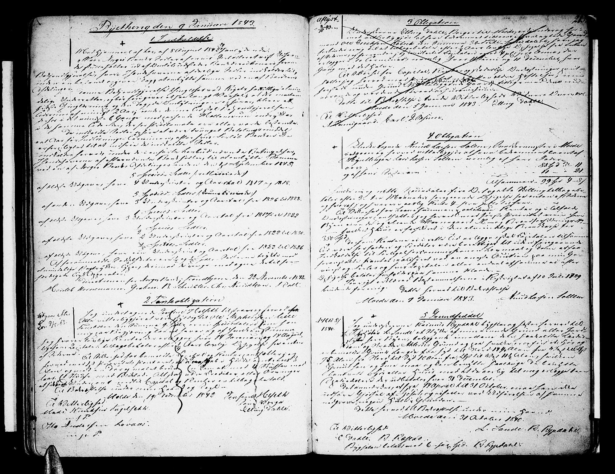 SAT, Molde byfogd, 2/2C/L0002: Pantebok nr. 2, 1823-1844, s. 213