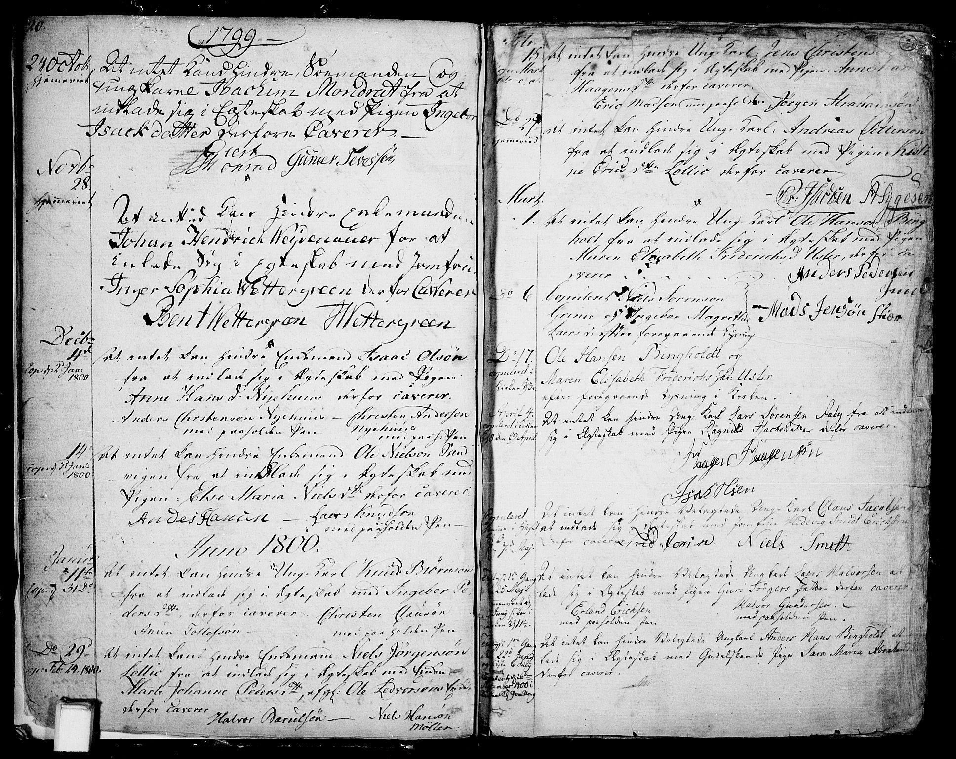 SAKO, Skien kirkebøker, F/Fa/L0004: Ministerialbok nr. 4, 1792-1814, s. 20-21