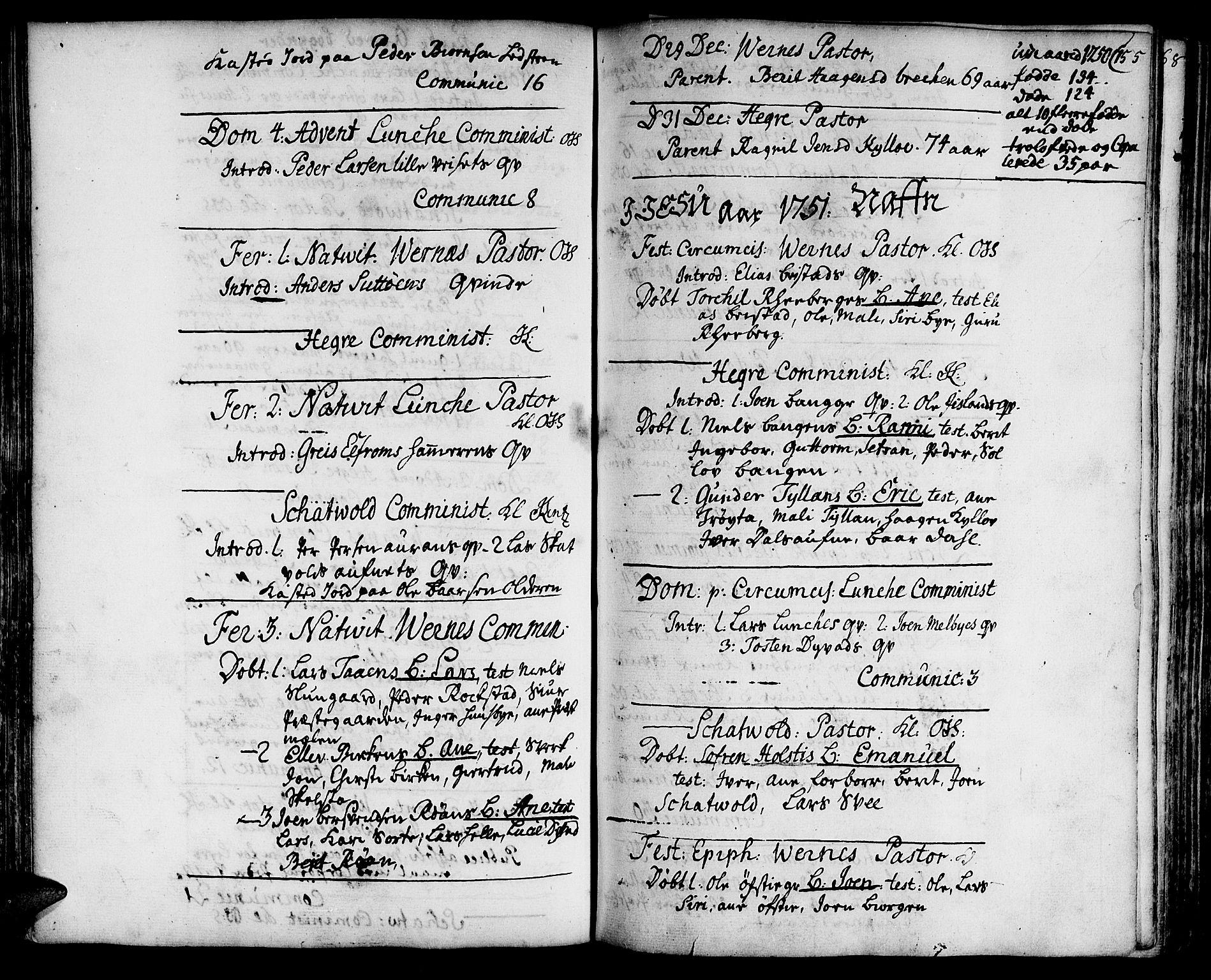 SAT, Ministerialprotokoller, klokkerbøker og fødselsregistre - Nord-Trøndelag, 709/L0056: Ministerialbok nr. 709A04, 1740-1756, s. 155