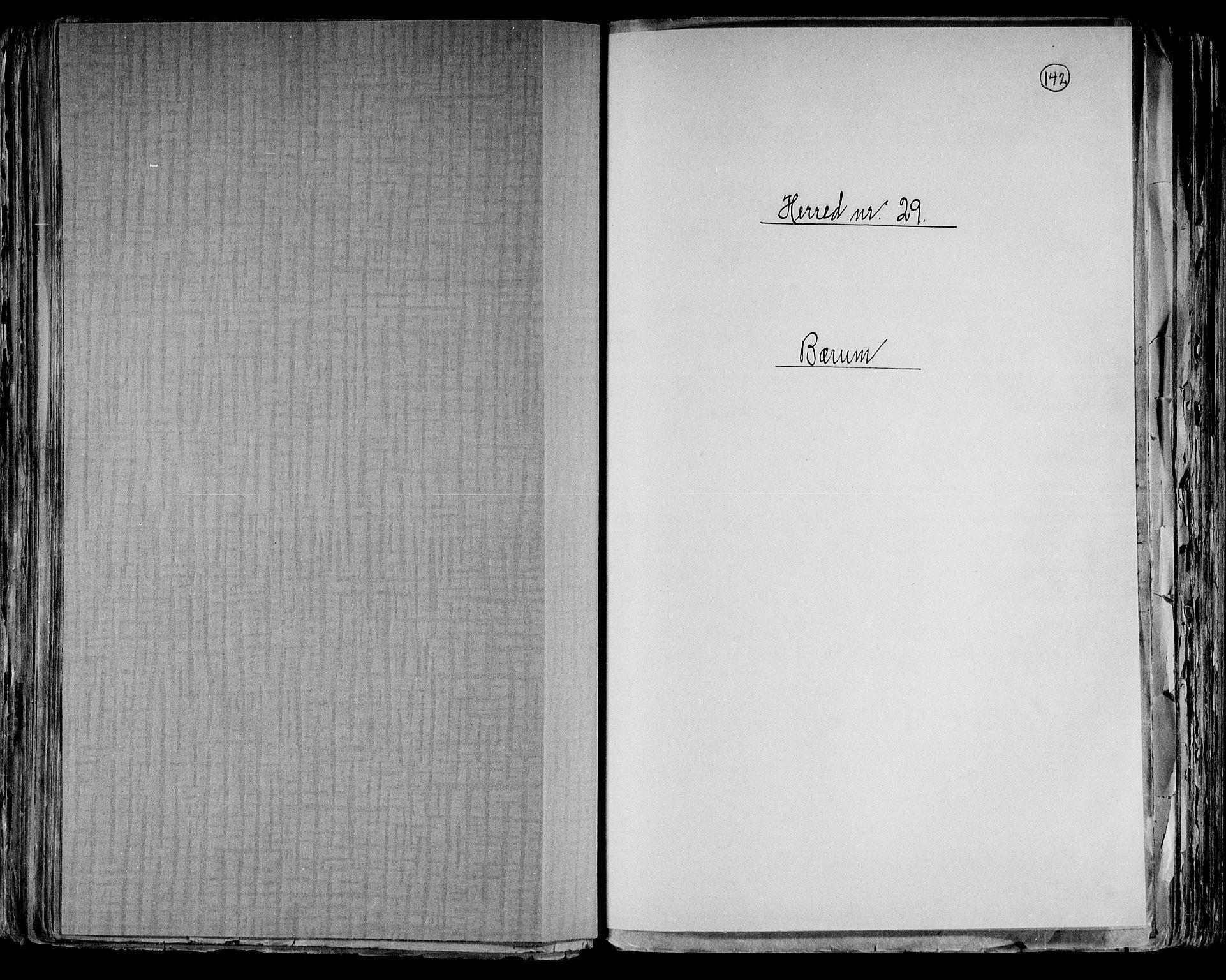 RA, Folketelling 1891 for 0219 Bærum herred, 1891, s. 1