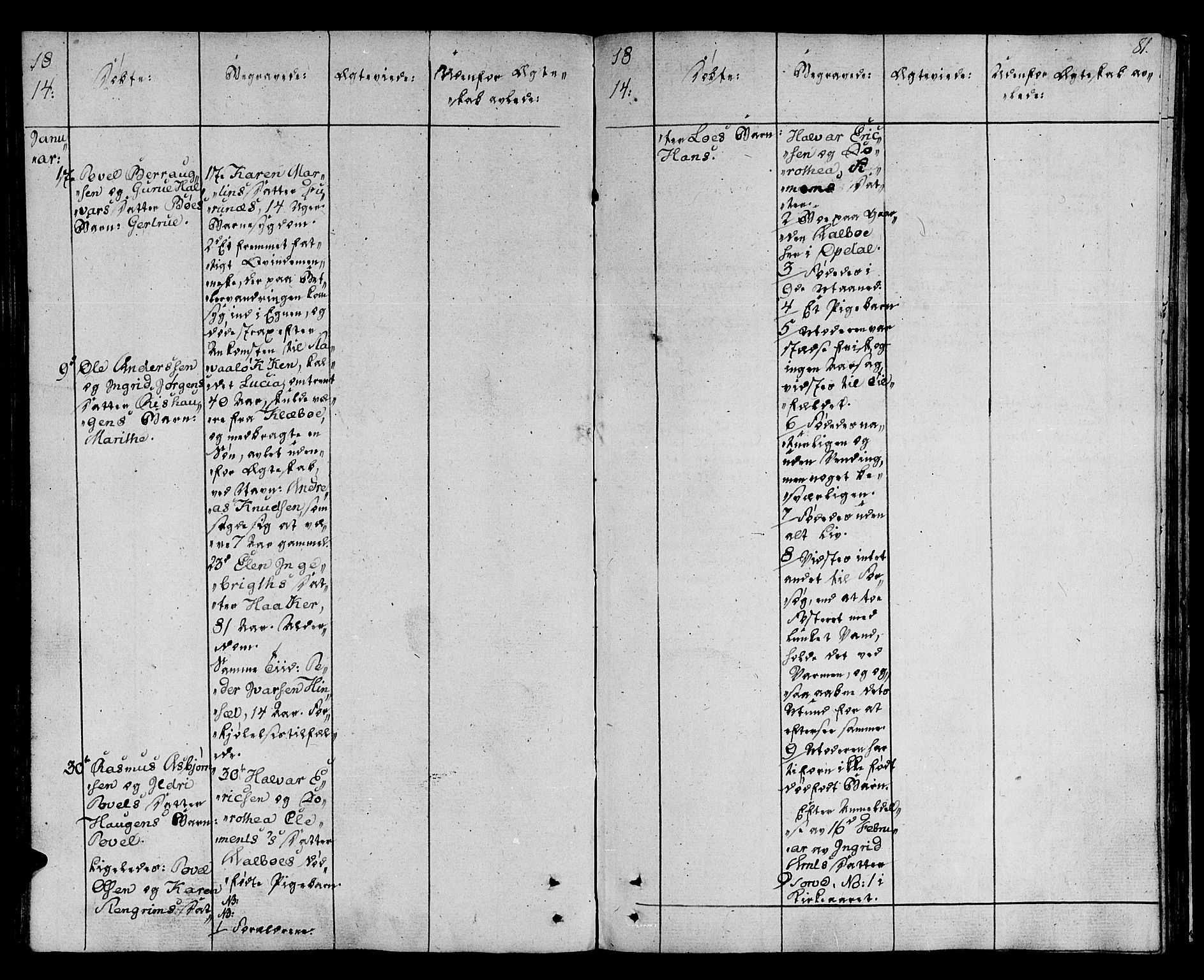 SAT, Ministerialprotokoller, klokkerbøker og fødselsregistre - Sør-Trøndelag, 678/L0894: Ministerialbok nr. 678A04, 1806-1815, s. 81