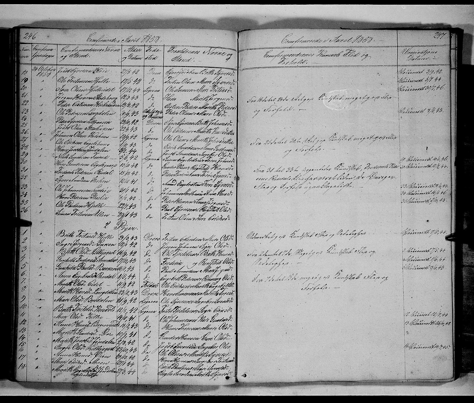 SAH, Lesja prestekontor, Klokkerbok nr. 3, 1842-1862, s. 246-247