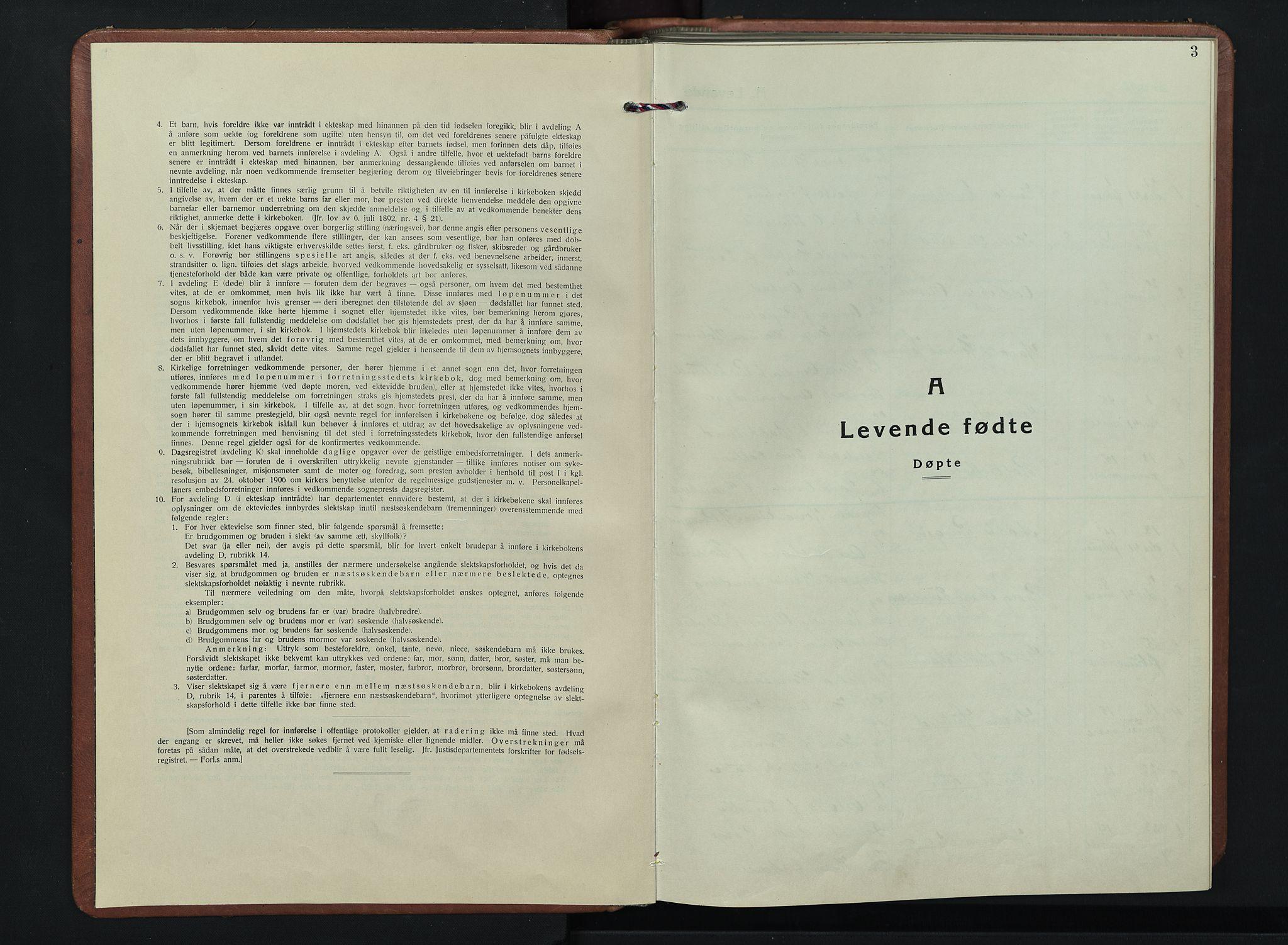 SAH, Kolbu prestekontor, Klokkerbok nr. 4, 1942-1953, s. 3