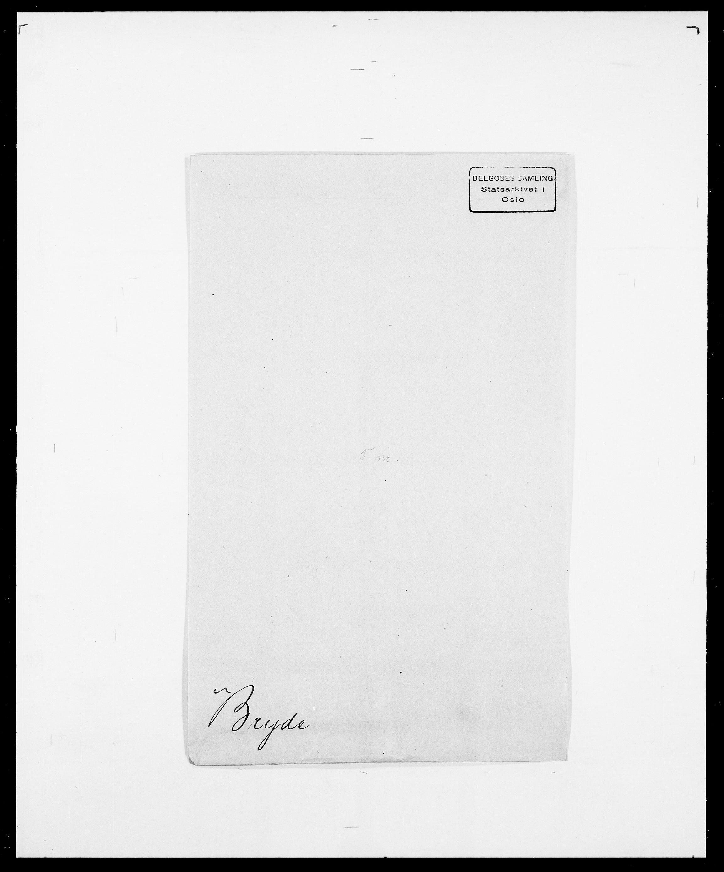 SAO, Delgobe, Charles Antoine - samling, D/Da/L0006: Brambani - Brønø, s. 899