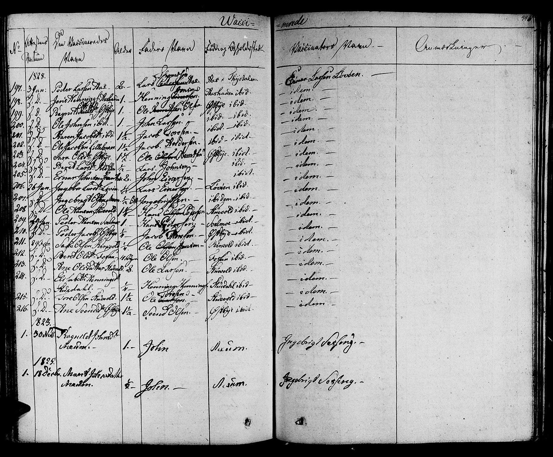 SAT, Ministerialprotokoller, klokkerbøker og fødselsregistre - Sør-Trøndelag, 695/L1143: Ministerialbok nr. 695A05 /1, 1824-1842, s. 446