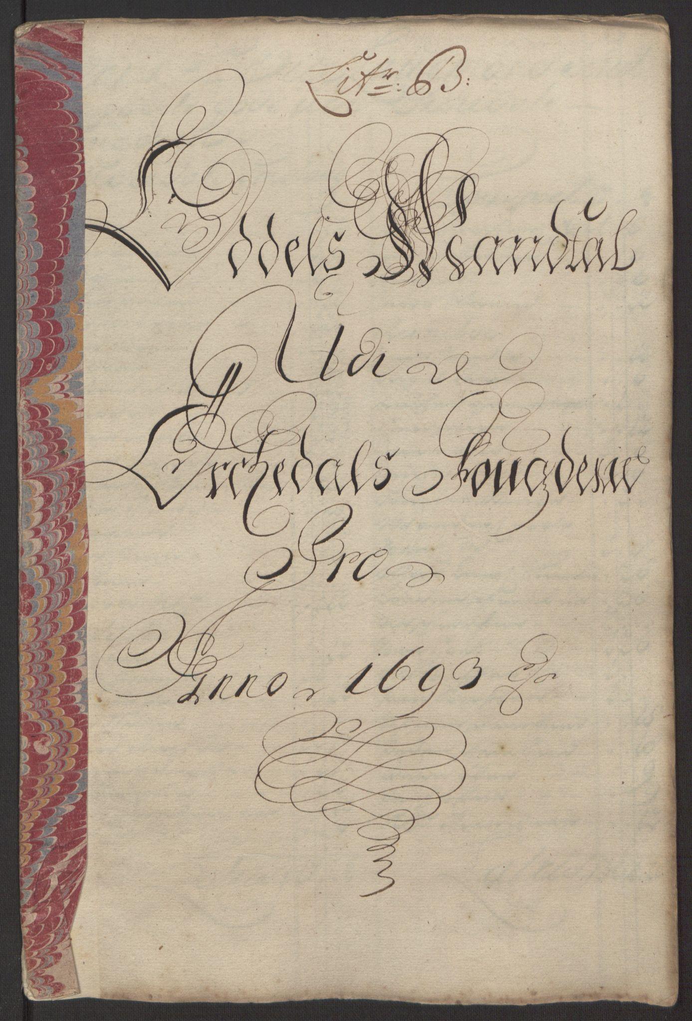 RA, Rentekammeret inntil 1814, Reviderte regnskaper, Fogderegnskap, R58/L3938: Fogderegnskap Orkdal, 1693, s. 85