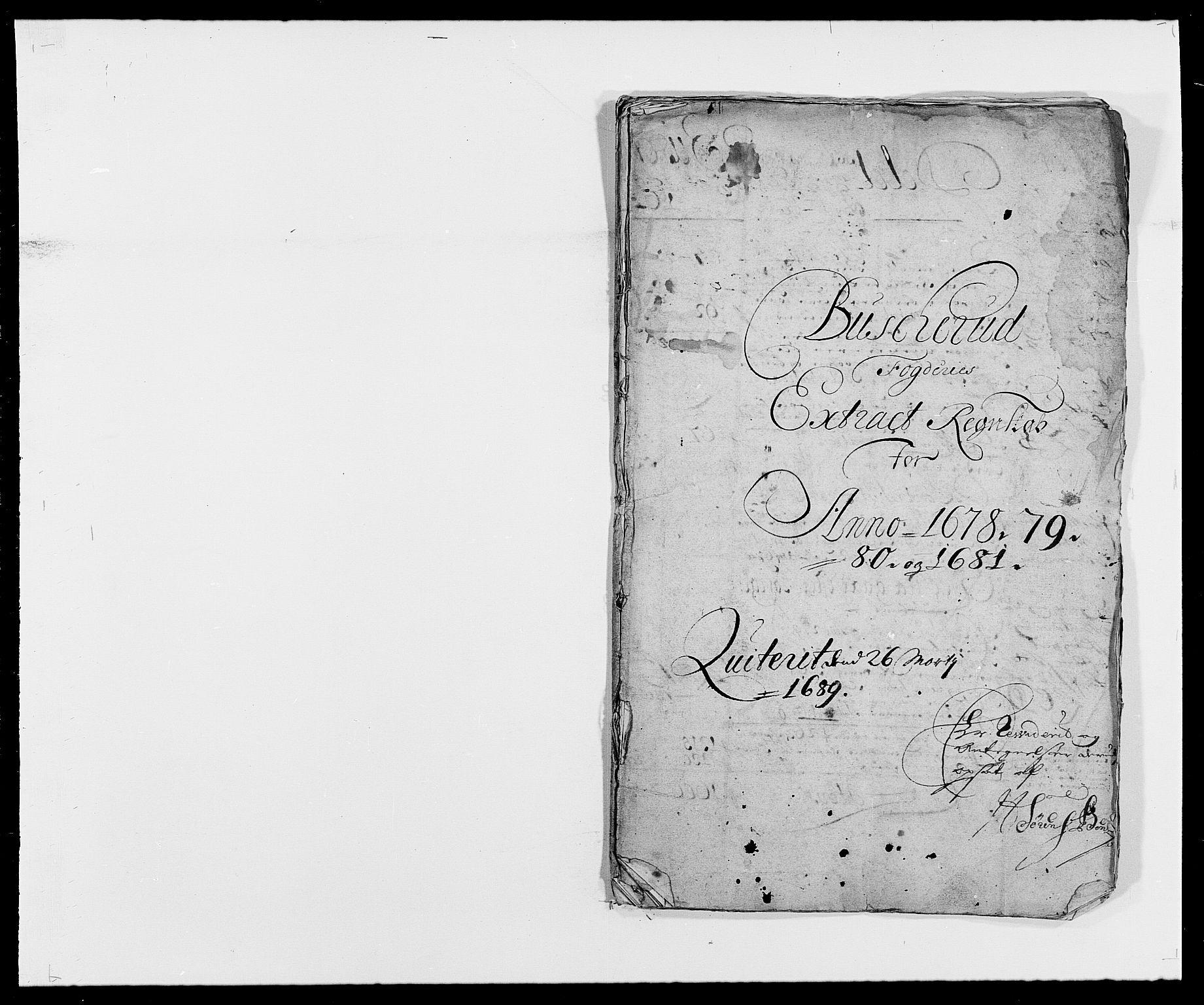 RA, Rentekammeret inntil 1814, Reviderte regnskaper, Fogderegnskap, R25/L1674: Fogderegnskap Buskerud, 1678-1681, s. 2