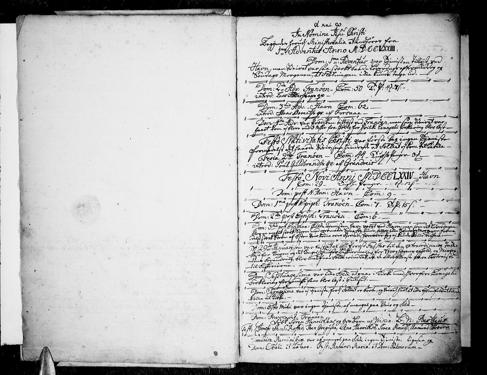 SATØ, Tranøy sokneprestkontor, I/Ia/Iaa/L0002kirke: Ministerialbok nr. 2, 1773-1806, s. 2