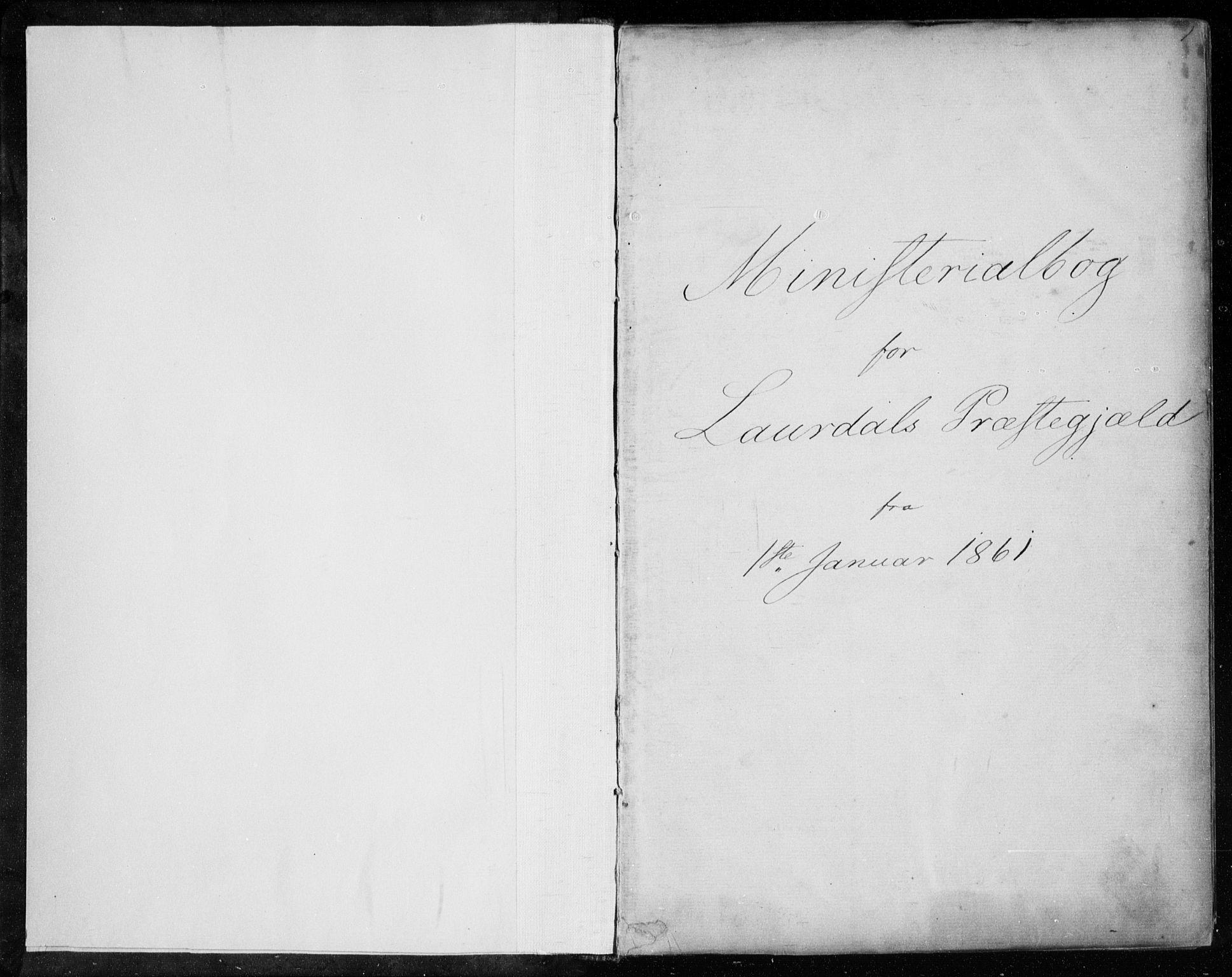 SAKO, Lårdal kirkebøker, F/Fa/L0006: Ministerialbok nr. I 6, 1861-1886, s. 1