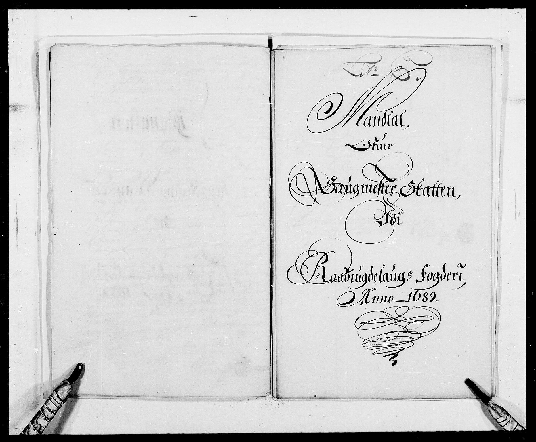 RA, Rentekammeret inntil 1814, Reviderte regnskaper, Fogderegnskap, R40/L2442: Fogderegnskap Råbyggelag, 1689-1690, s. 76