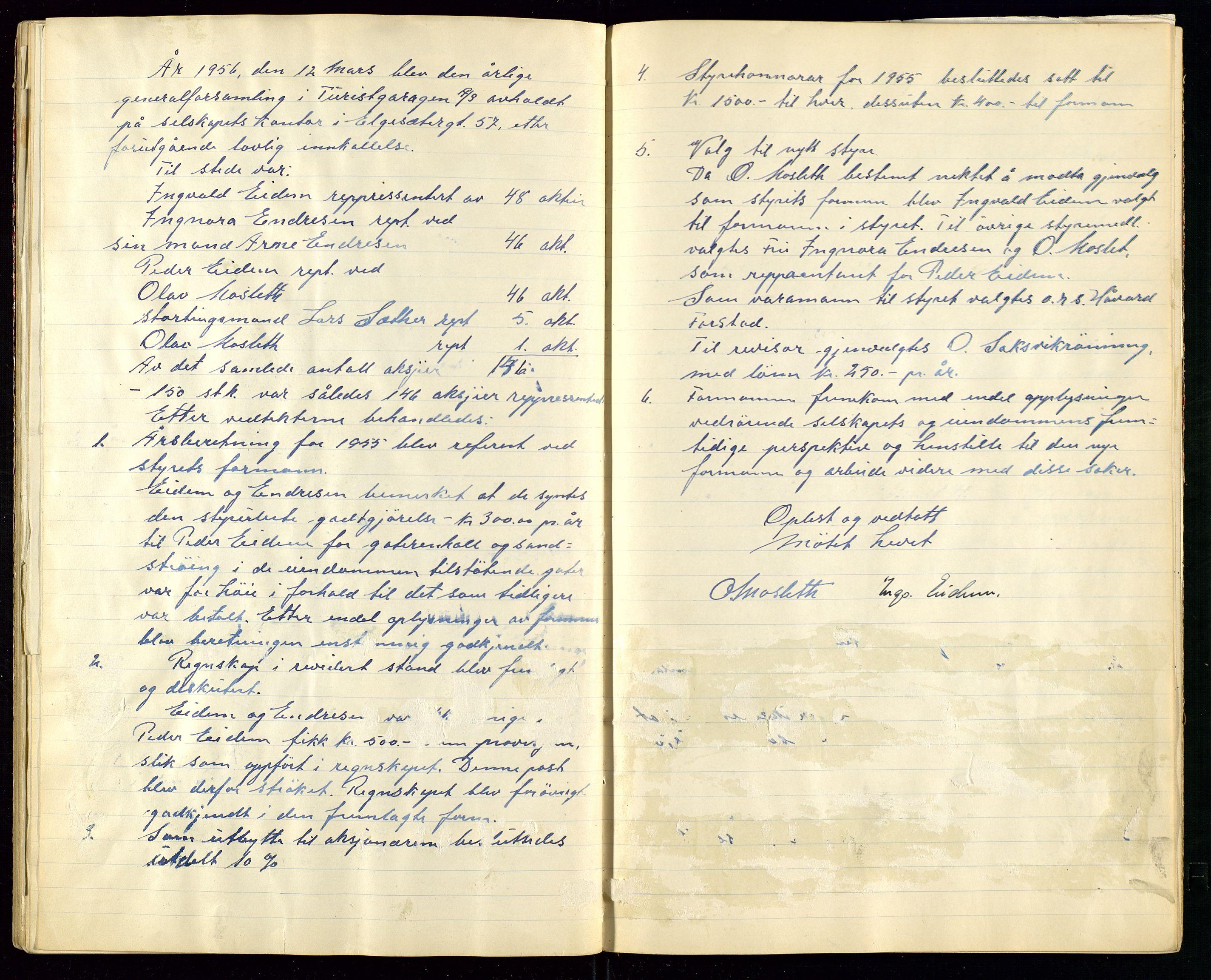 SAST, PA 1515 - Turistgarasjen A/S, A/L0001: Forhandlingsprotokoll, 1937-1958, s. 42
