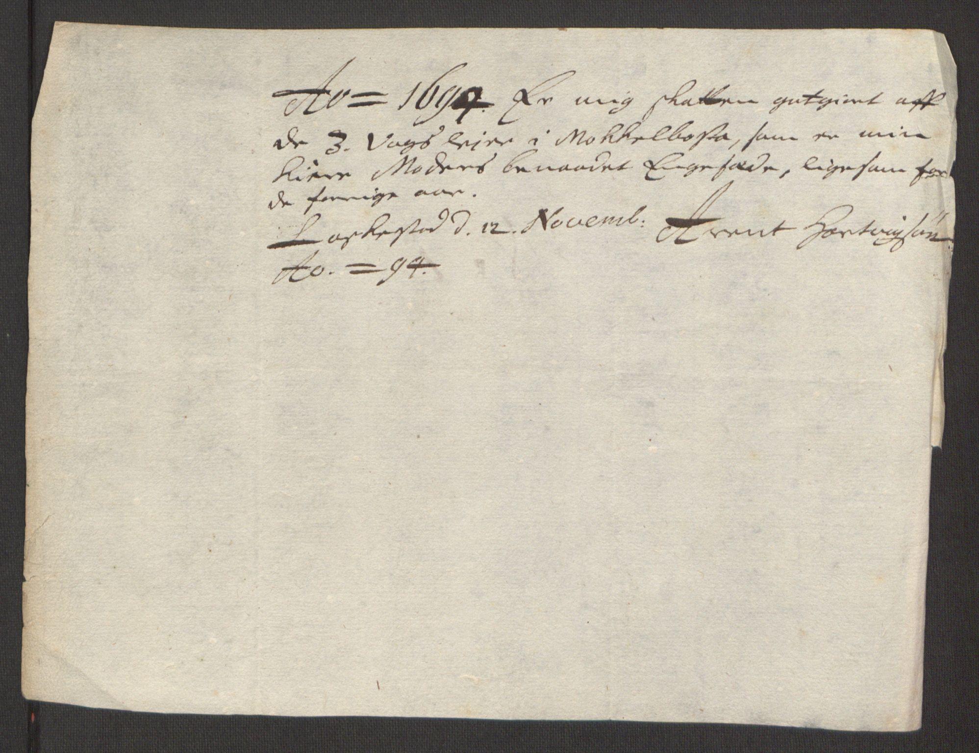 RA, Rentekammeret inntil 1814, Reviderte regnskaper, Fogderegnskap, R66/L4578: Fogderegnskap Salten, 1694-1696, s. 85