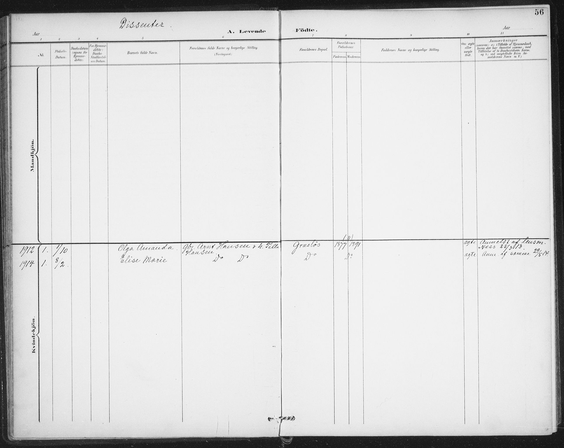 SAO, Varteig prestekontor Kirkebøker, F/Fa/L0003: Ministerialbok nr. 3, 1899-1919, s. 56