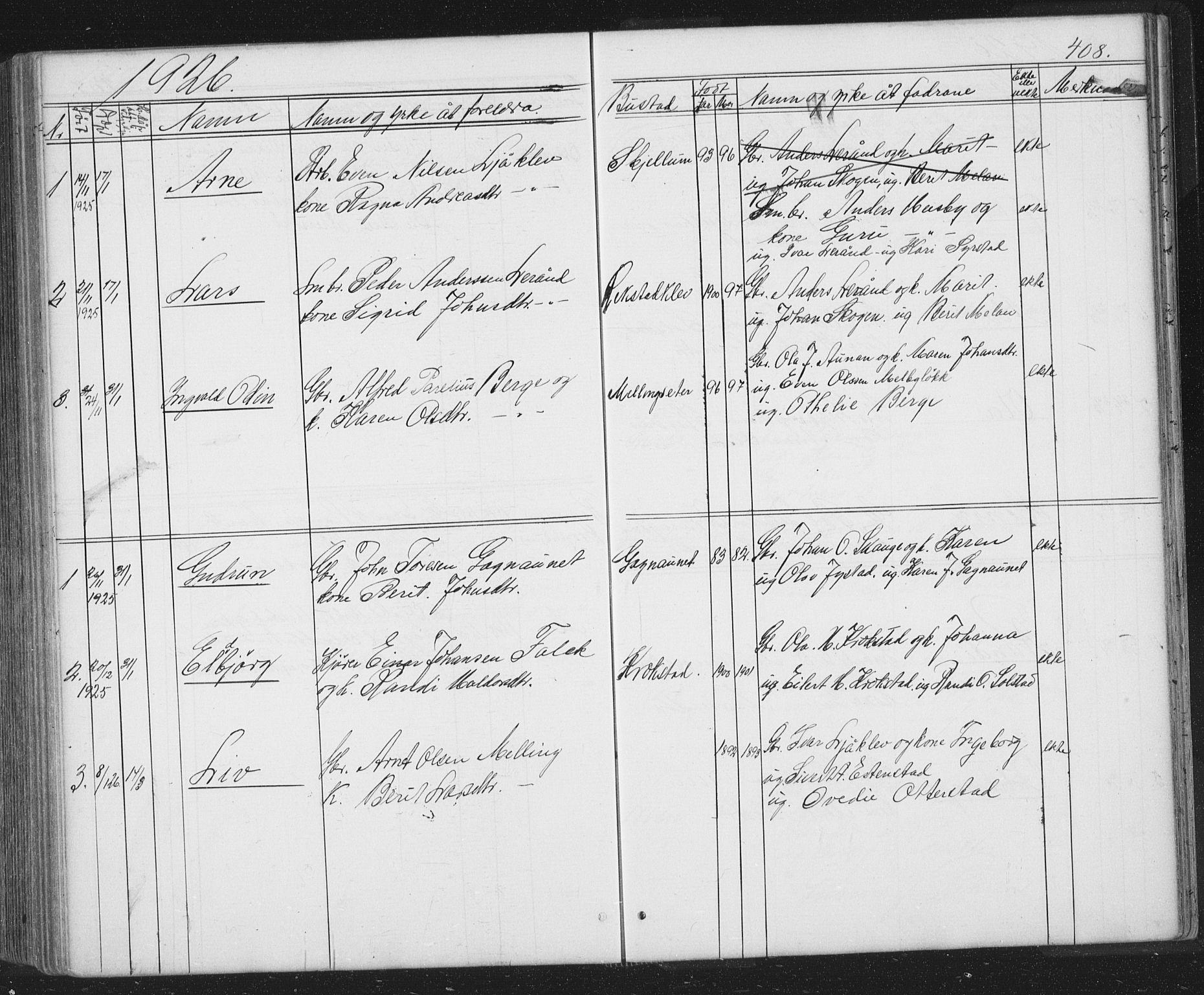 SAT, Ministerialprotokoller, klokkerbøker og fødselsregistre - Sør-Trøndelag, 667/L0798: Klokkerbok nr. 667C03, 1867-1929, s. 408