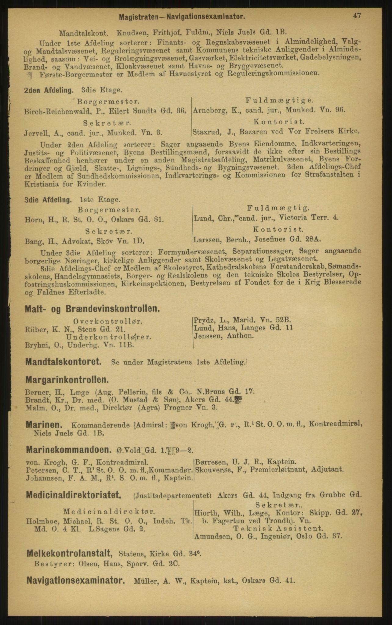 PUBL, Kristiania/Oslo adressebok, 1897, s. 47