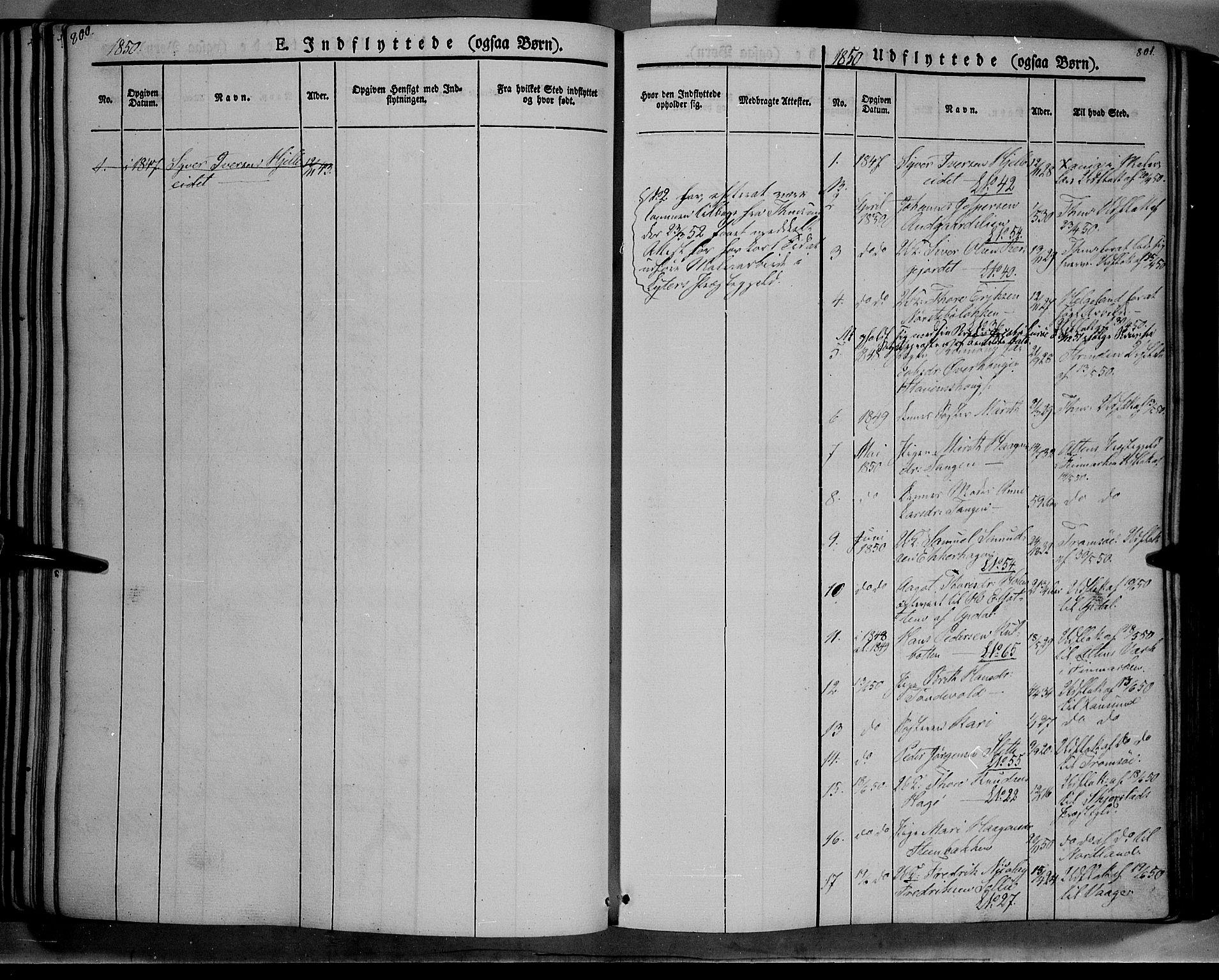 SAH, Lesja prestekontor, Ministerialbok nr. 6B, 1843-1854, s. 800-801