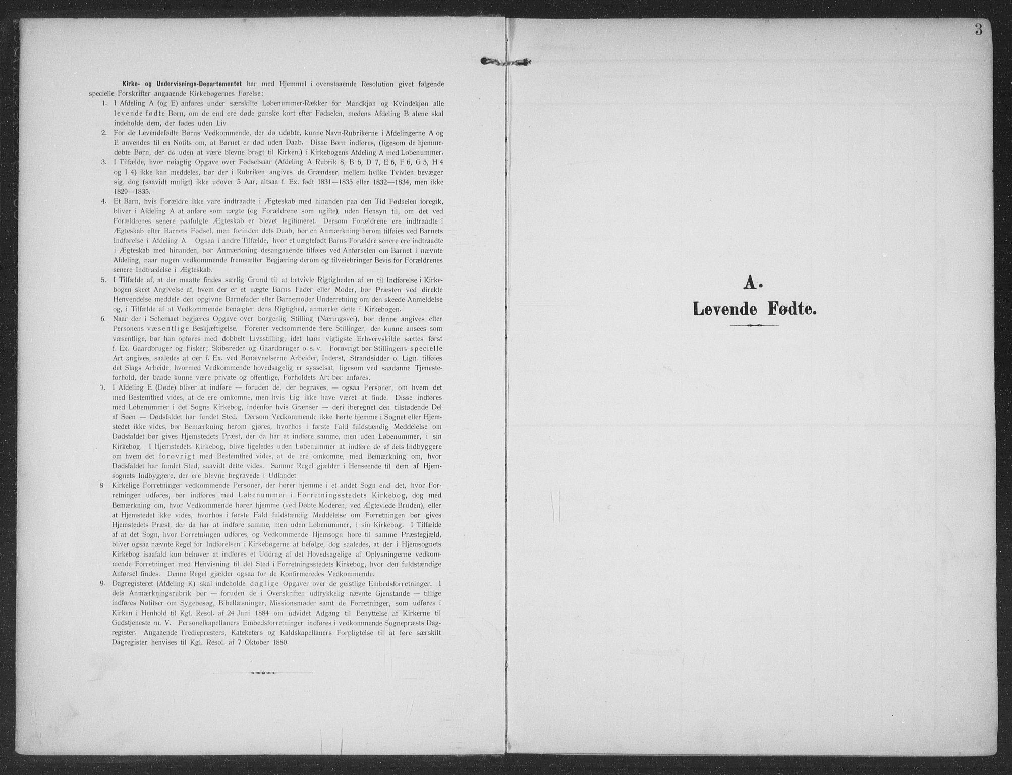 SAT, Ministerialprotokoller, klokkerbøker og fødselsregistre - Møre og Romsdal, 513/L0178: Ministerialbok nr. 513A05, 1906-1919, s. 3