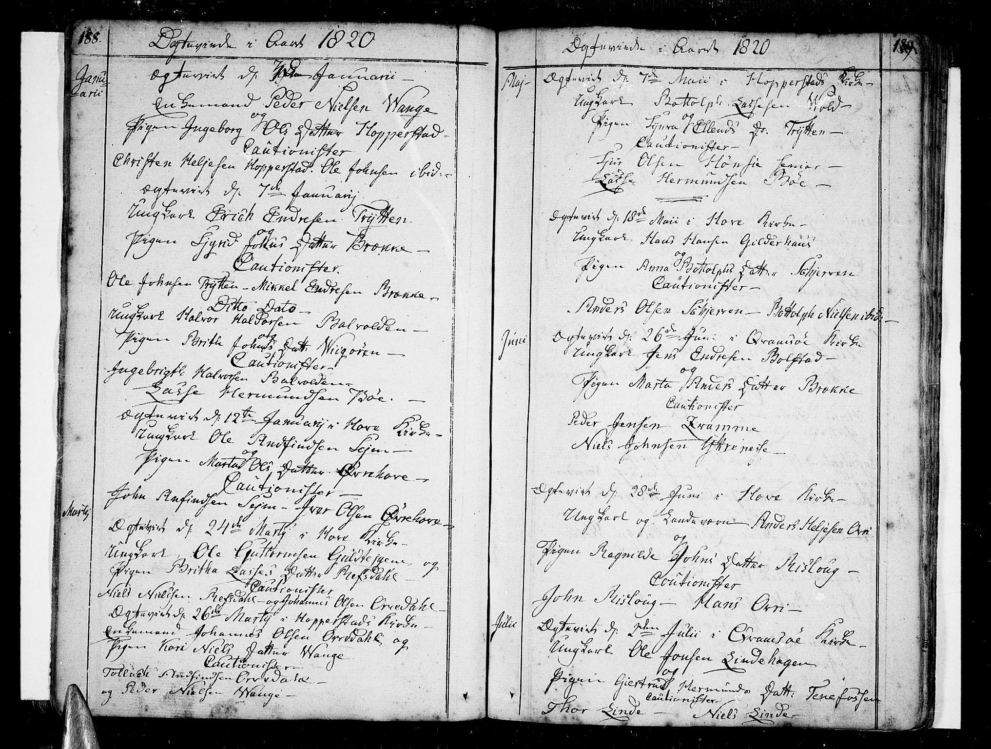 SAB, Vik Sokneprestembete, Ministerialbok nr. A 5, 1787-1820, s. 188-189