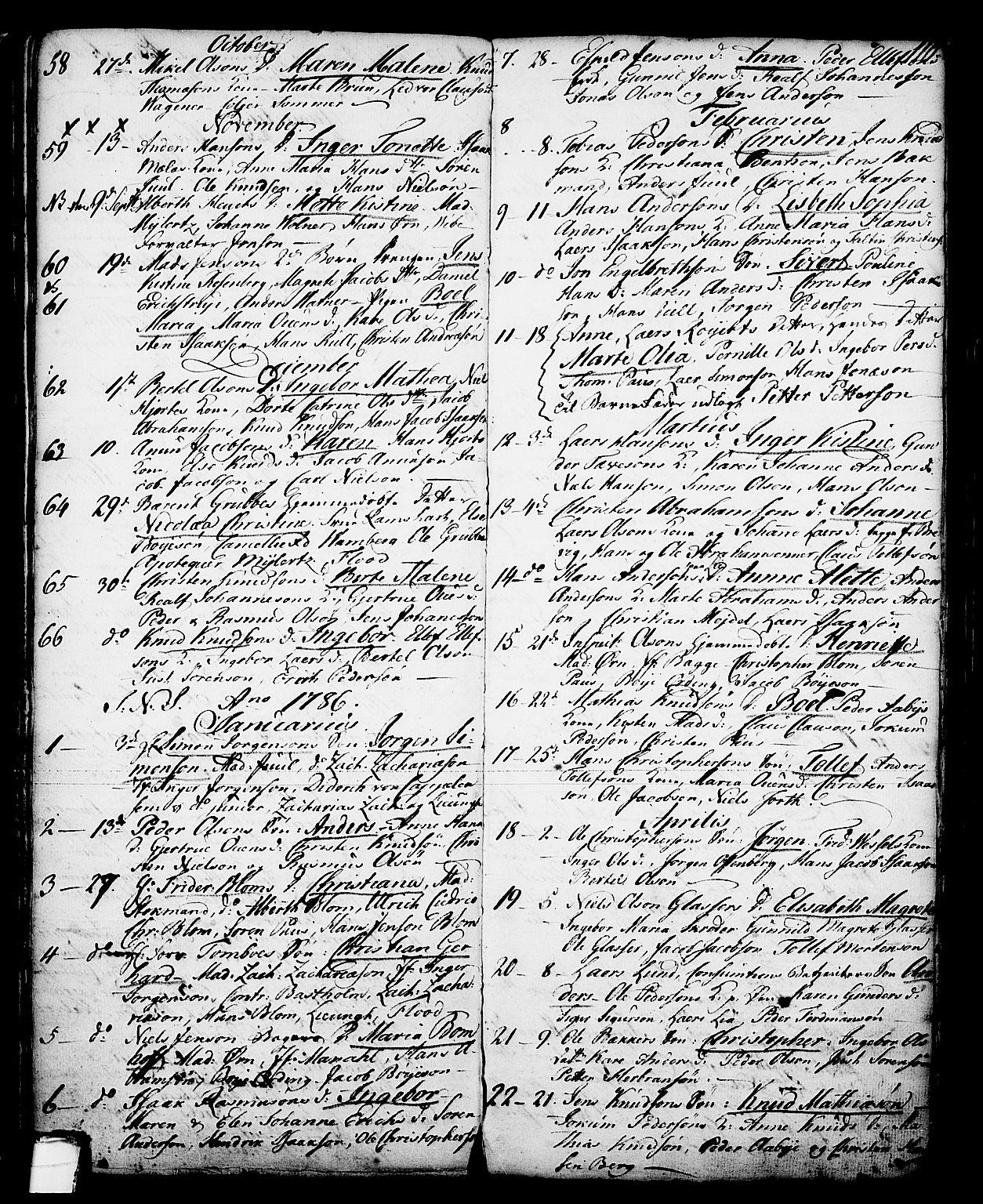 SAKO, Skien kirkebøker, G/Ga/L0001: Klokkerbok nr. 1, 1756-1791, s. 110