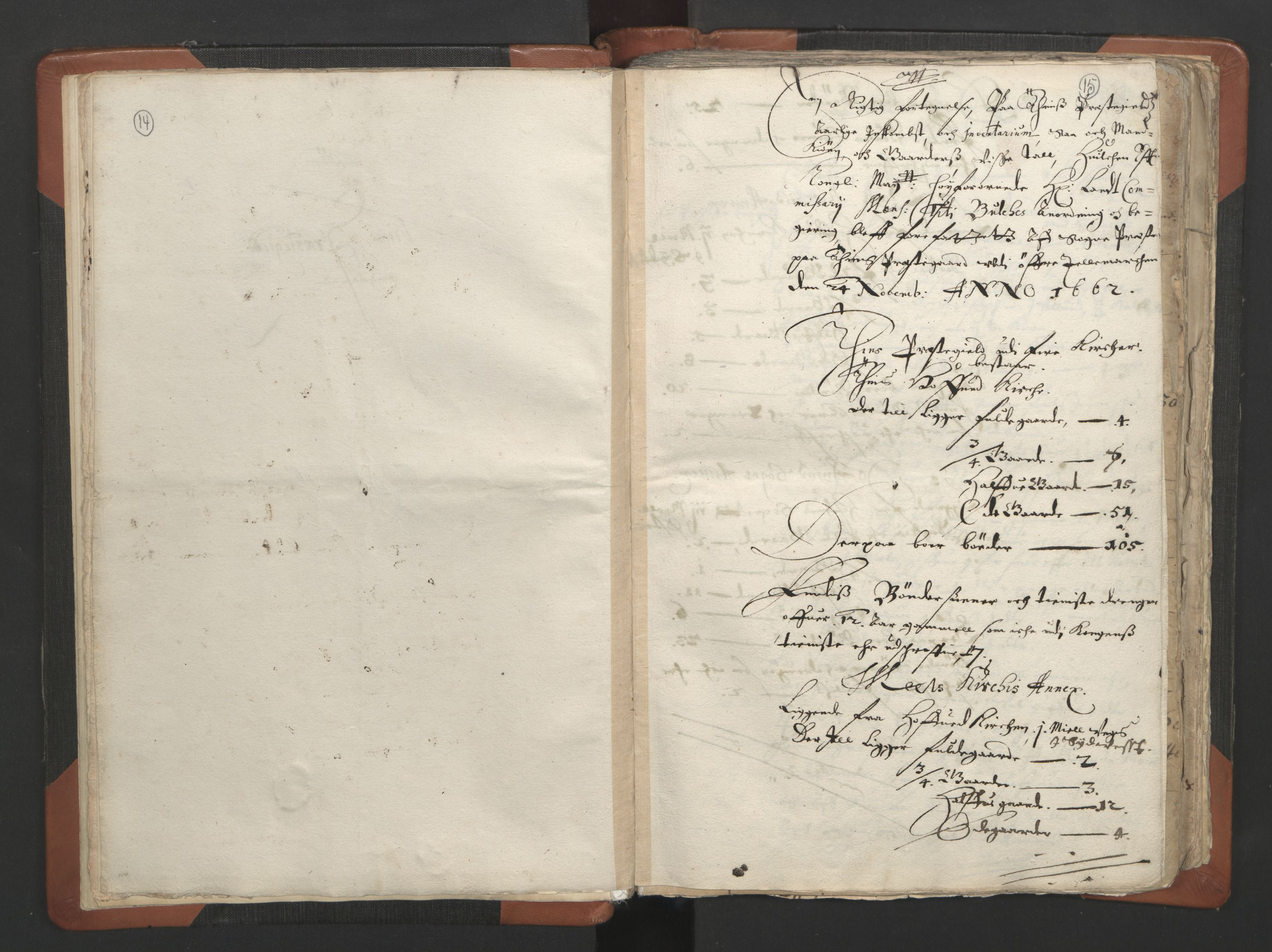 RA, Sogneprestenes manntall 1664-1666, nr. 12: Øvre Telemark prosti, Nedre Telemark prosti og Bamble prosti, 1664-1666, s. 14-15