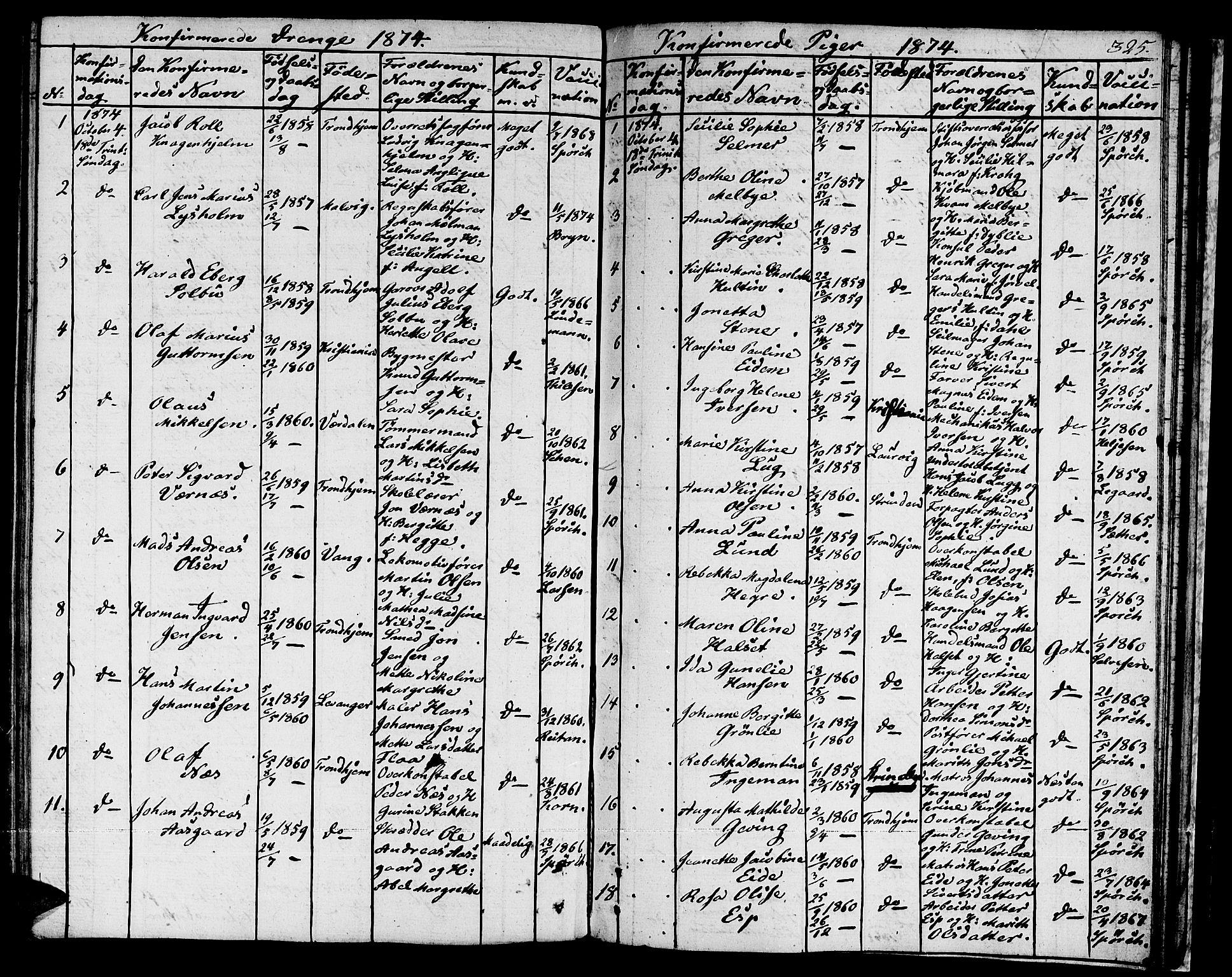 SAT, Ministerialprotokoller, klokkerbøker og fødselsregistre - Sør-Trøndelag, 601/L0070: Residerende kapellans bok nr. 601B03, 1821-1881, s. 325