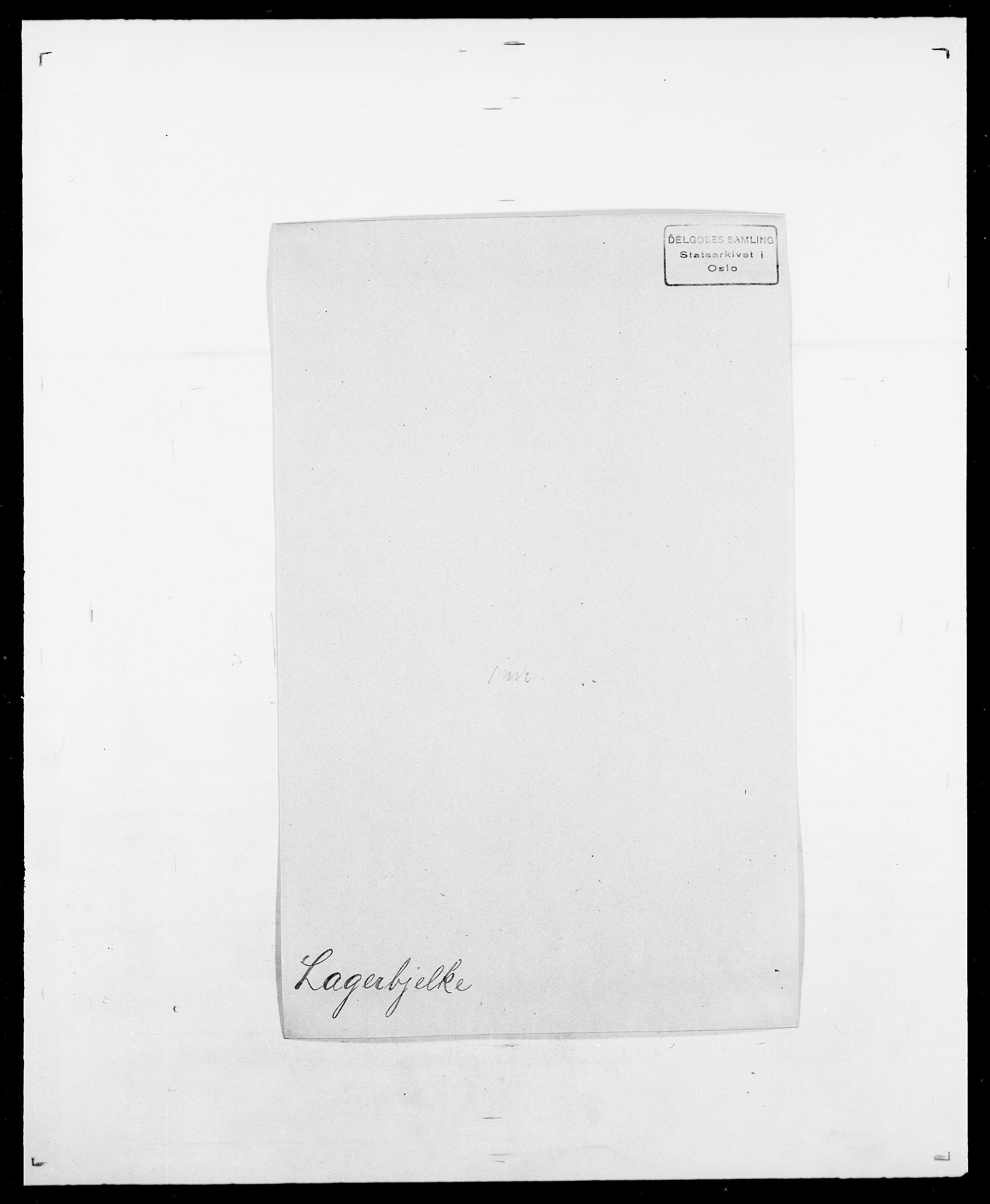 SAO, Delgobe, Charles Antoine - samling, D/Da/L0022: Krog - Lasteen, s. 396