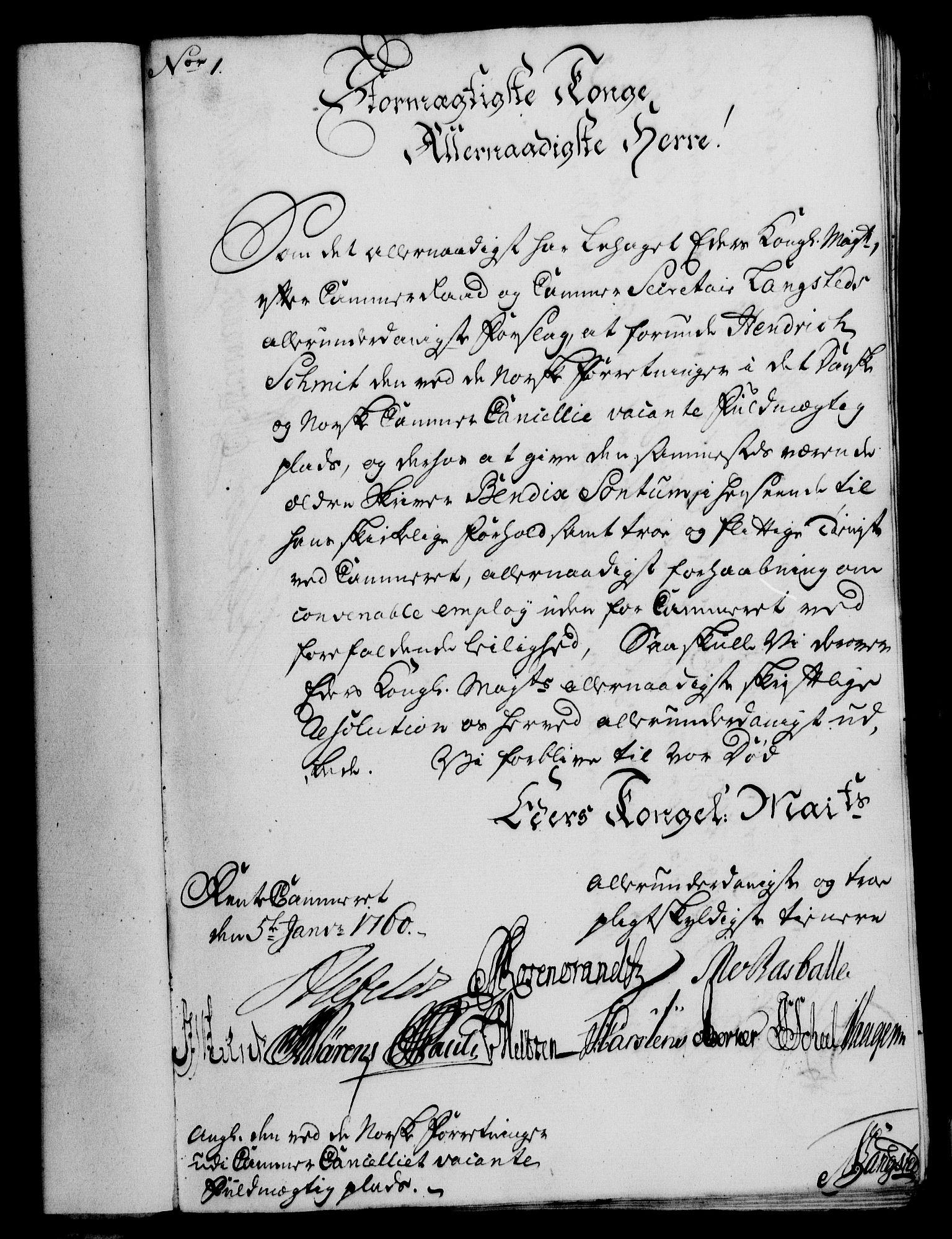 RA, Rentekammeret, Kammerkanselliet, G/Gf/Gfa/L0043: Norsk relasjons- og resolusjonsprotokoll (merket RK 52.43), 1761, s. 29