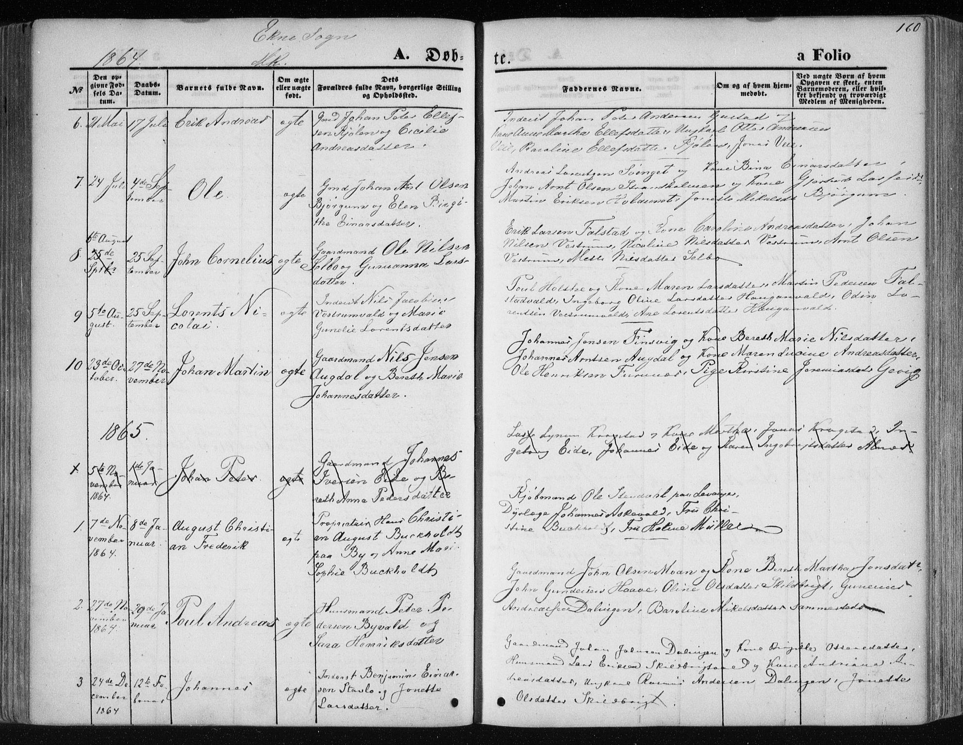 SAT, Ministerialprotokoller, klokkerbøker og fødselsregistre - Nord-Trøndelag, 717/L0158: Ministerialbok nr. 717A08 /2, 1863-1877, s. 160