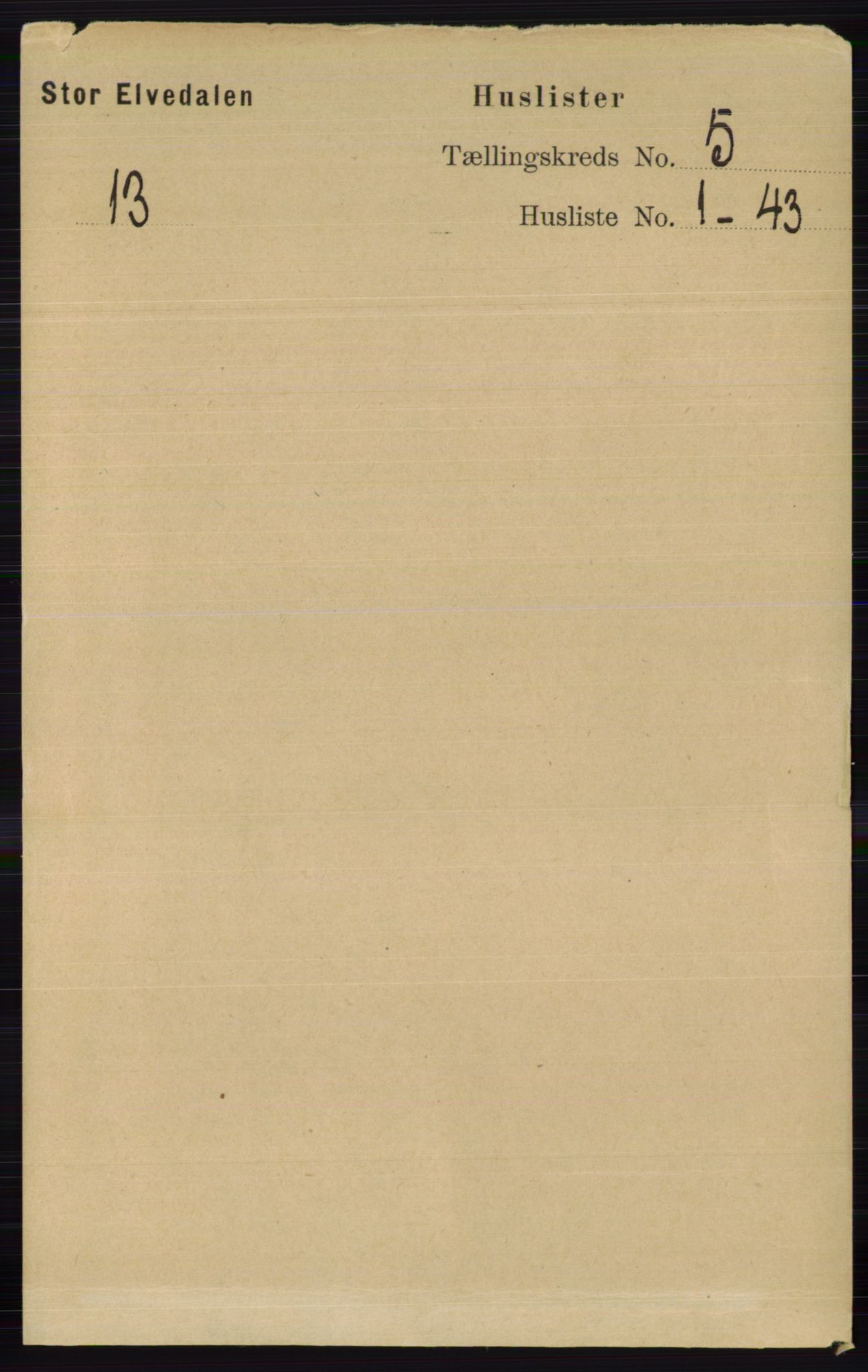 RA, Folketelling 1891 for 0430 Stor-Elvdal herred, 1891, s. 1668