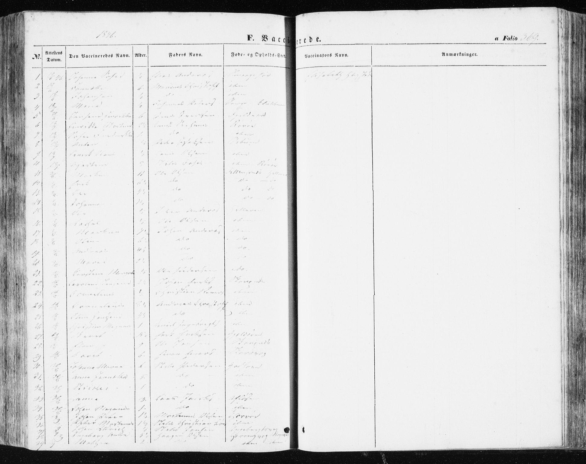 SAT, Ministerialprotokoller, klokkerbøker og fødselsregistre - Sør-Trøndelag, 634/L0529: Ministerialbok nr. 634A05, 1843-1851, s. 369