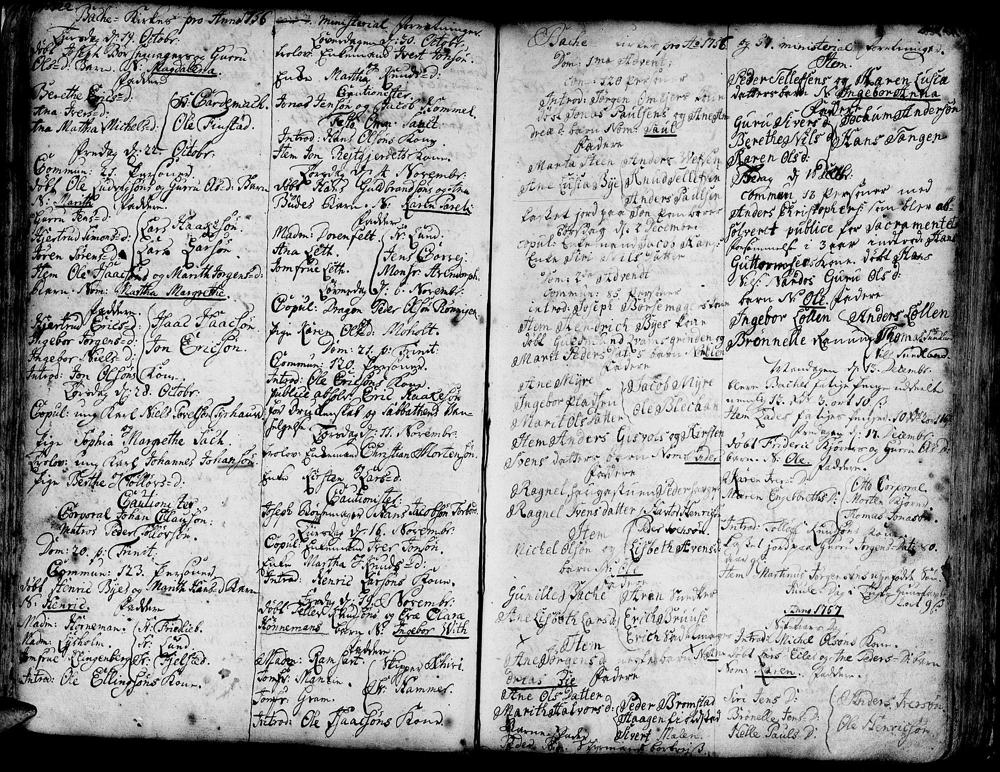 SAT, Ministerialprotokoller, klokkerbøker og fødselsregistre - Sør-Trøndelag, 606/L0276: Ministerialbok nr. 606A01 /2, 1727-1779, s. 122-123
