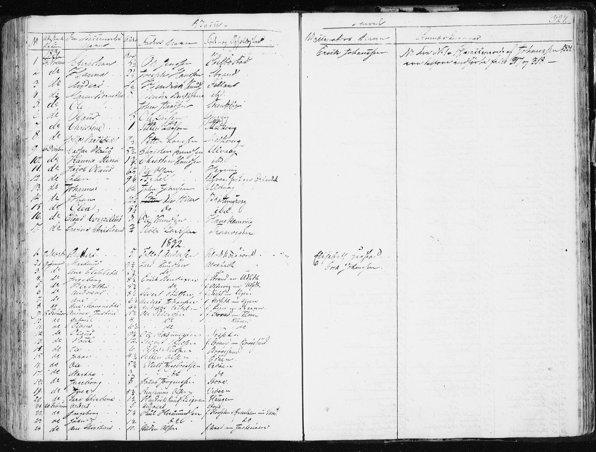 SAT, Ministerialprotokoller, klokkerbøker og fødselsregistre - Sør-Trøndelag, 634/L0528: Ministerialbok nr. 634A04, 1827-1842, s. 327